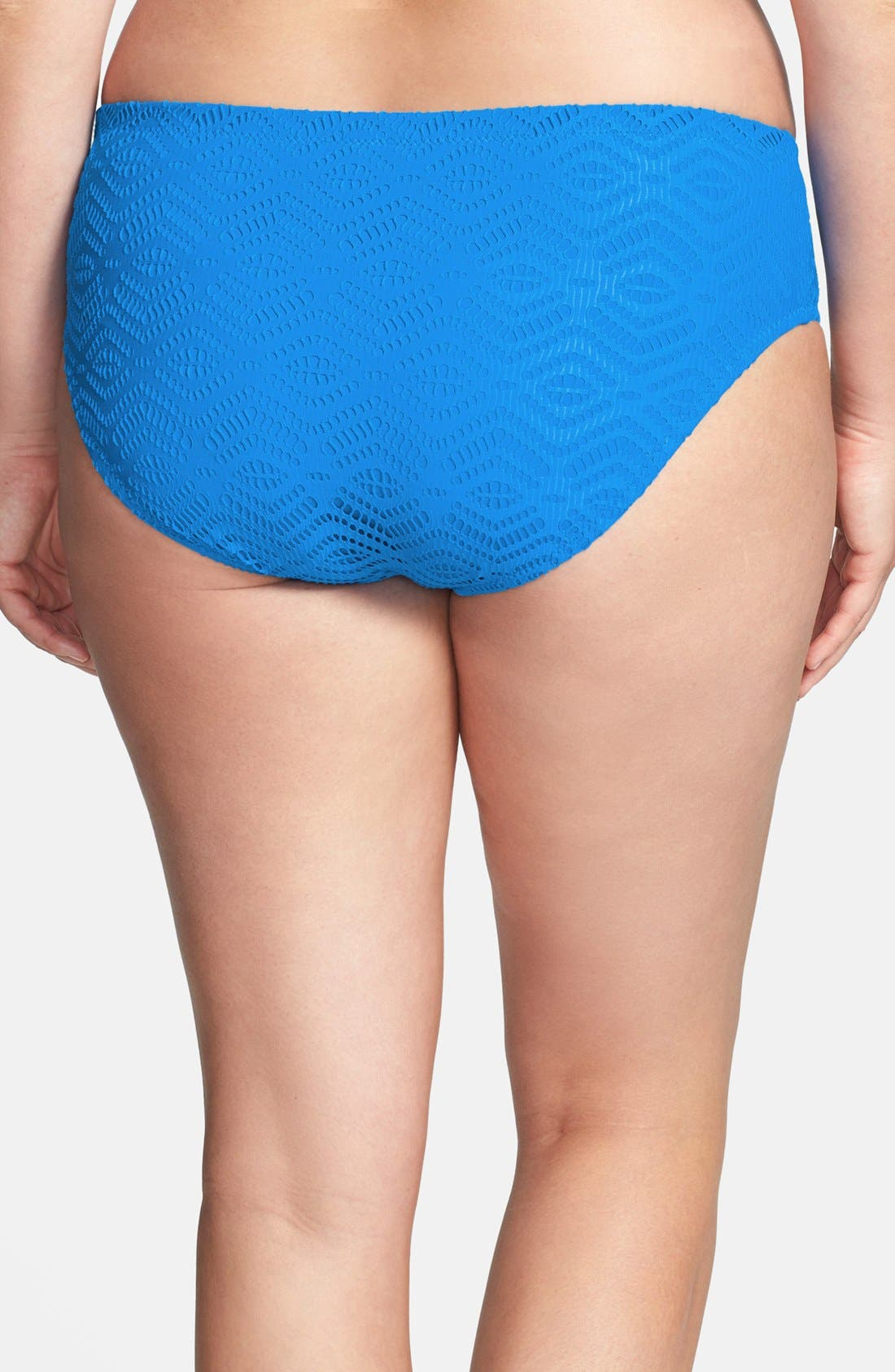 Alternate Image 2  - Becca Etc. Crochet Bikini Bottoms (Plus Size)