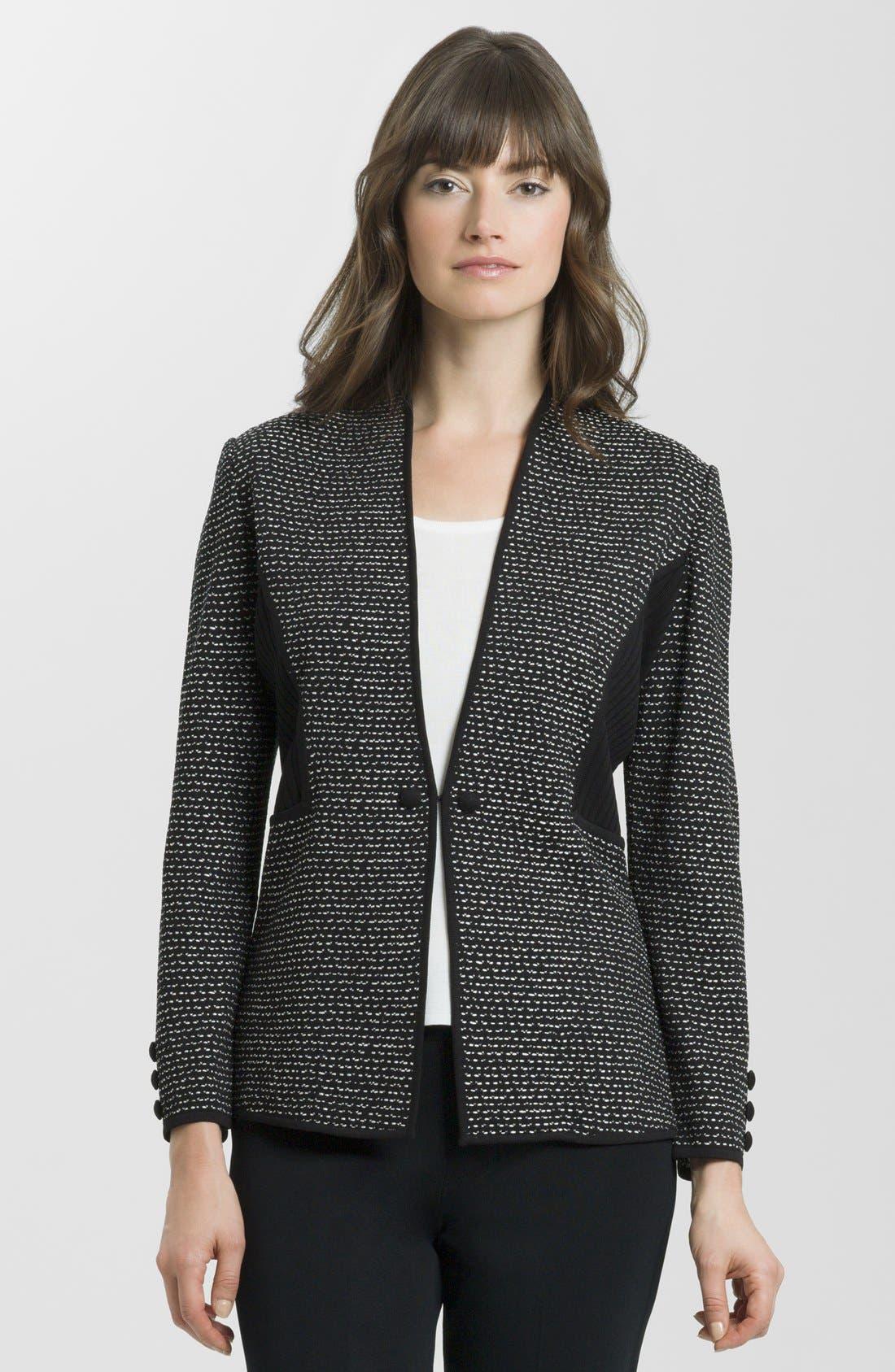 Main Image - Ming Wang Contrast Panel Knit Jacket