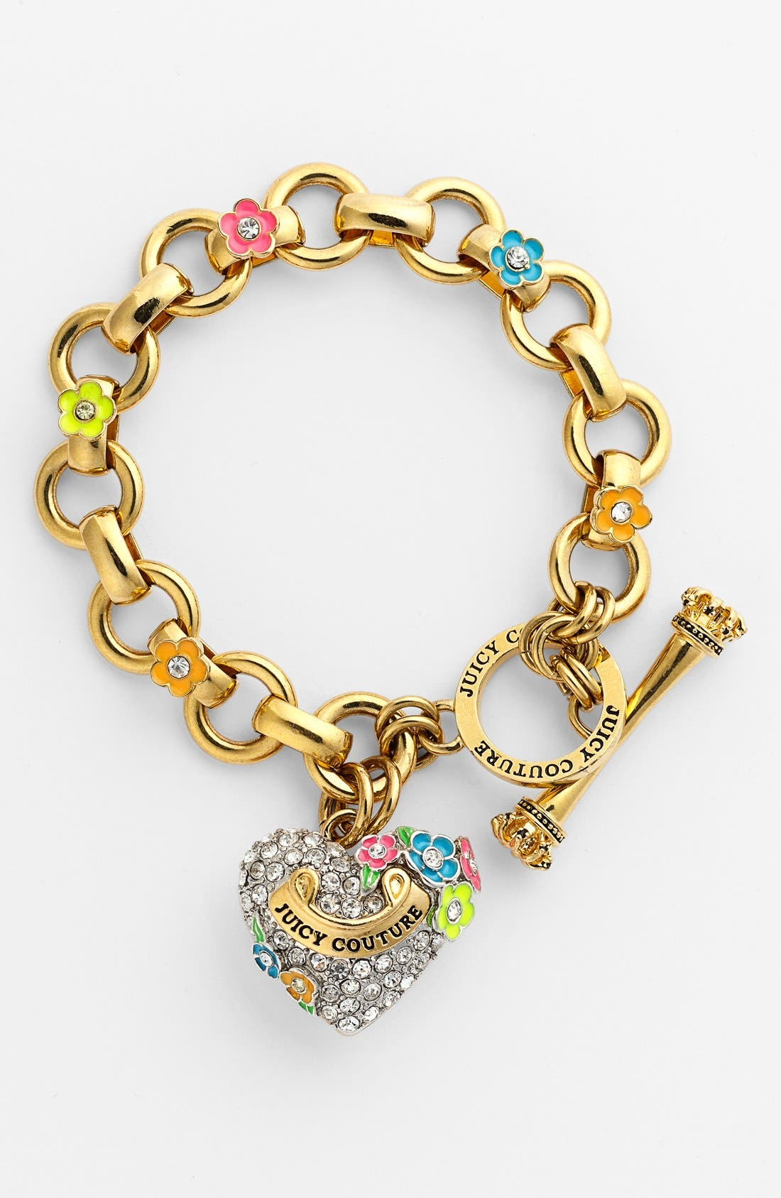 Main Image - Juicy Couture 'Blooming Hearts' Charm Bracelet