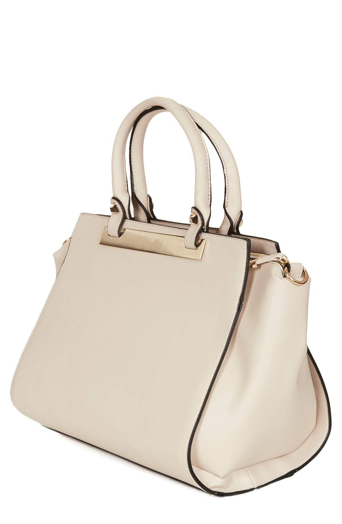 Alternate Image 4  - Topshop Faux Leather Handbag