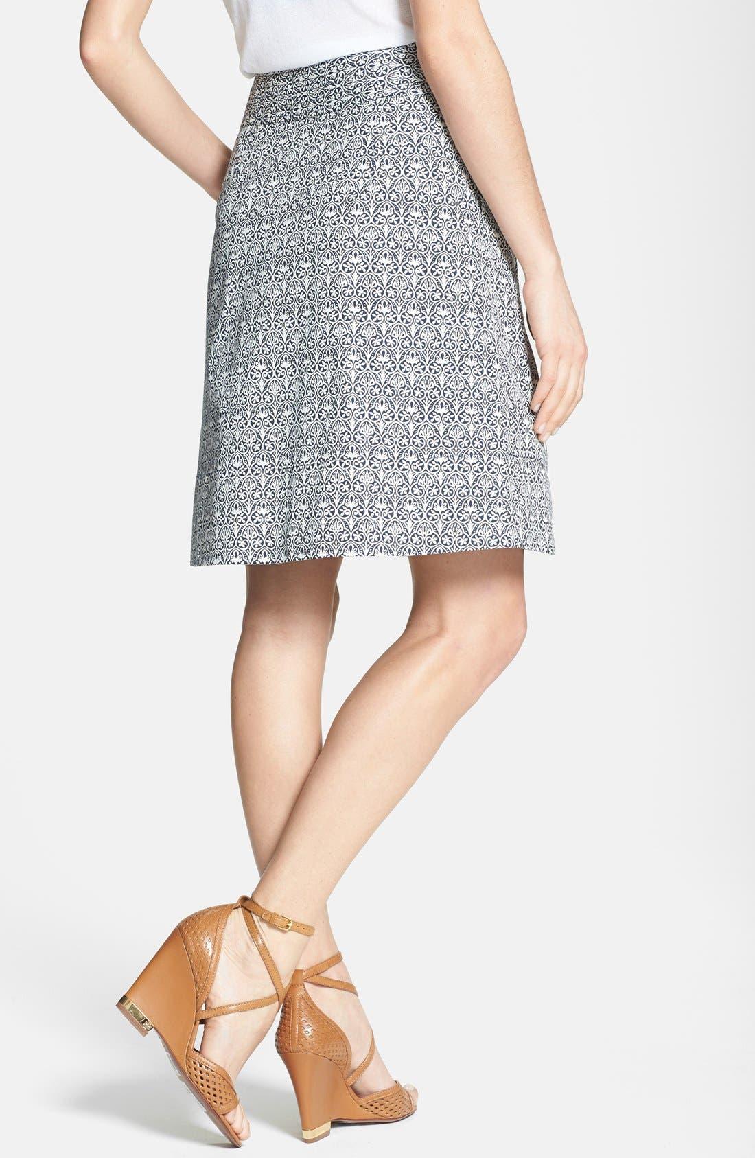 Alternate Image 2  - Tory Burch 'Mila' Stretch Cotton Skirt