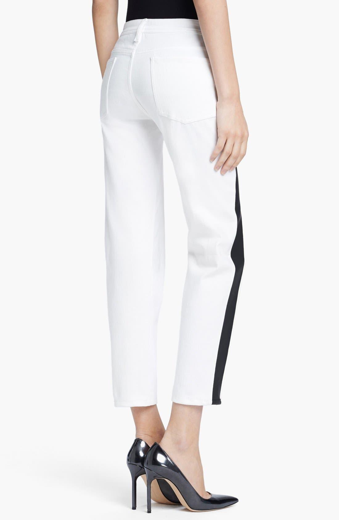 Alternate Image 2  - Faith Connexion Tuxedo Stripe Ankle Jeans