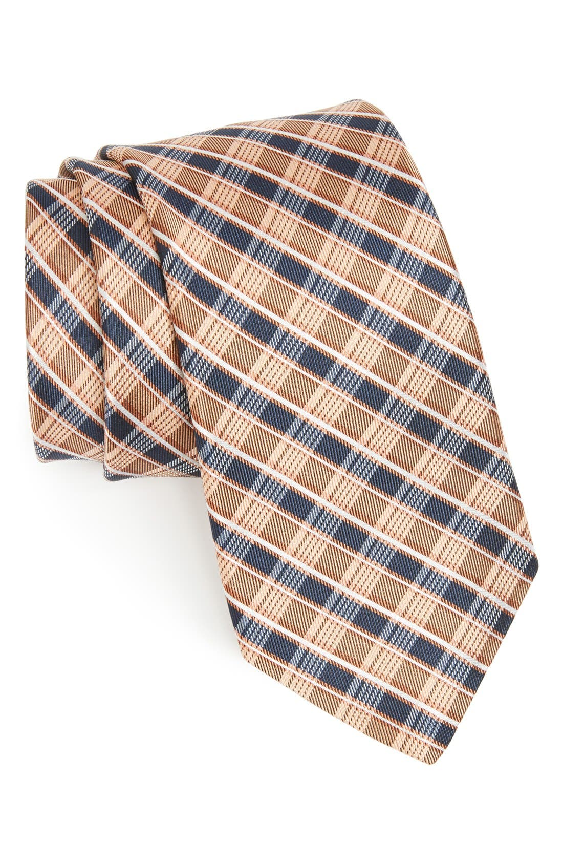 Main Image - Michael Kors Plaid Woven Silk Tie