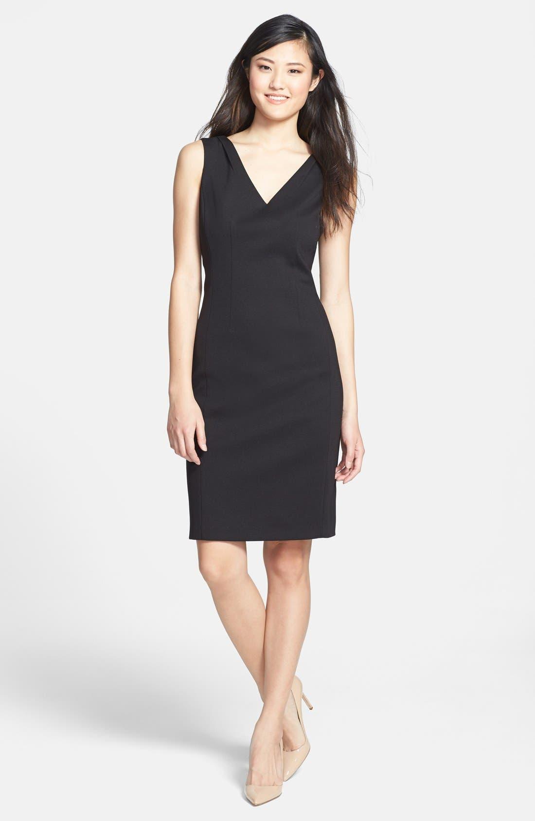 Alternate Image 1 Selected - T Tahari 'Everly' V-Neck Sheath Dress