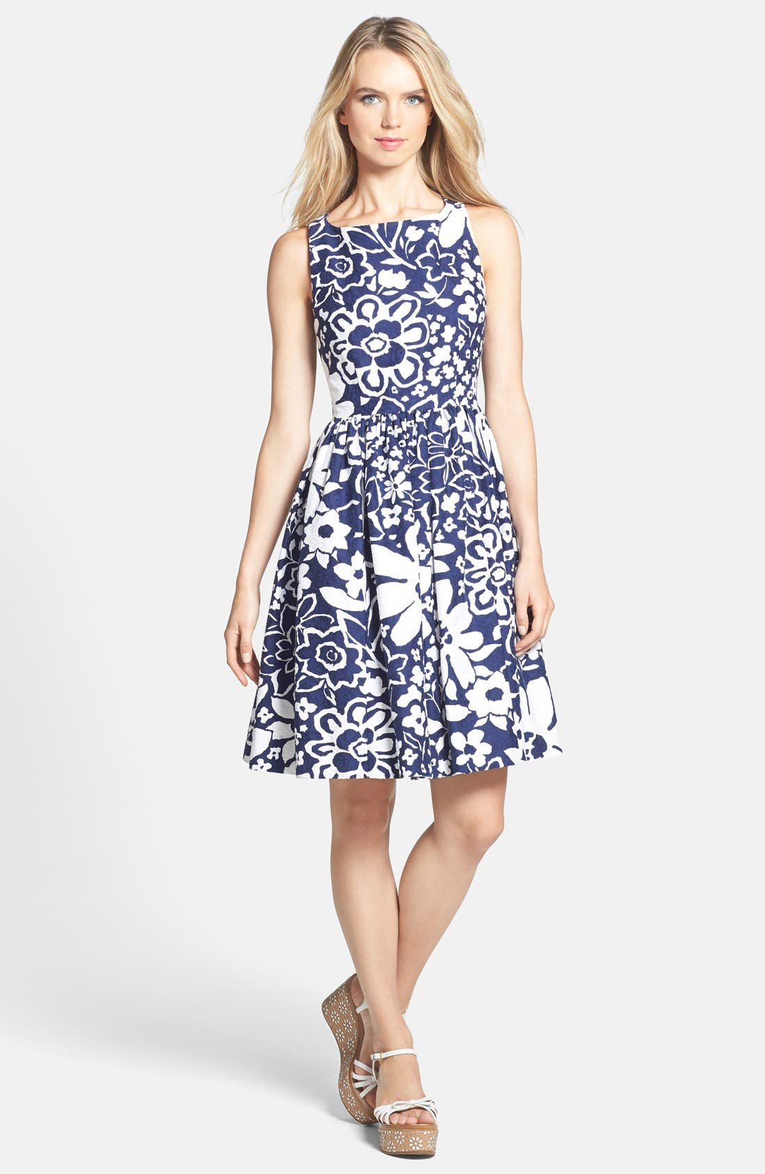 Alternate Image 1 Selected - kate spade new york cutaway back fit & flare dress