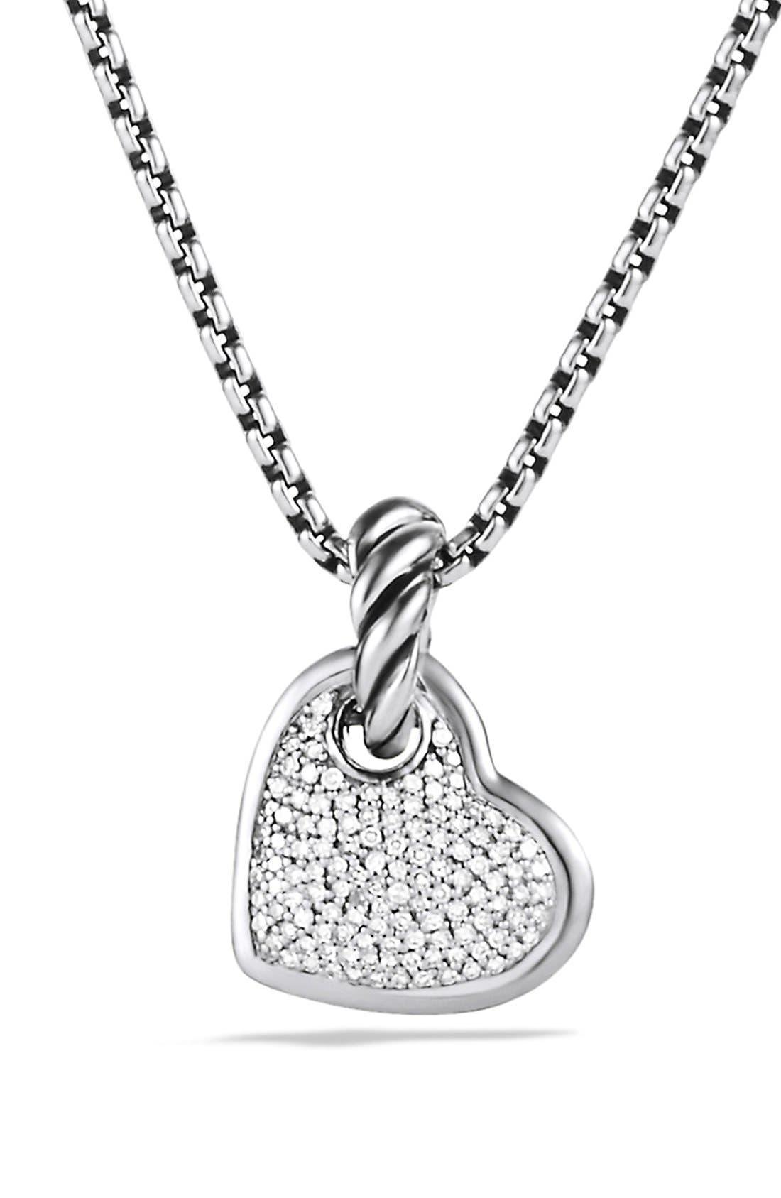 Alternate Image 1 Selected - David Yurman 'Cable Heart' Pendant with Diamonds