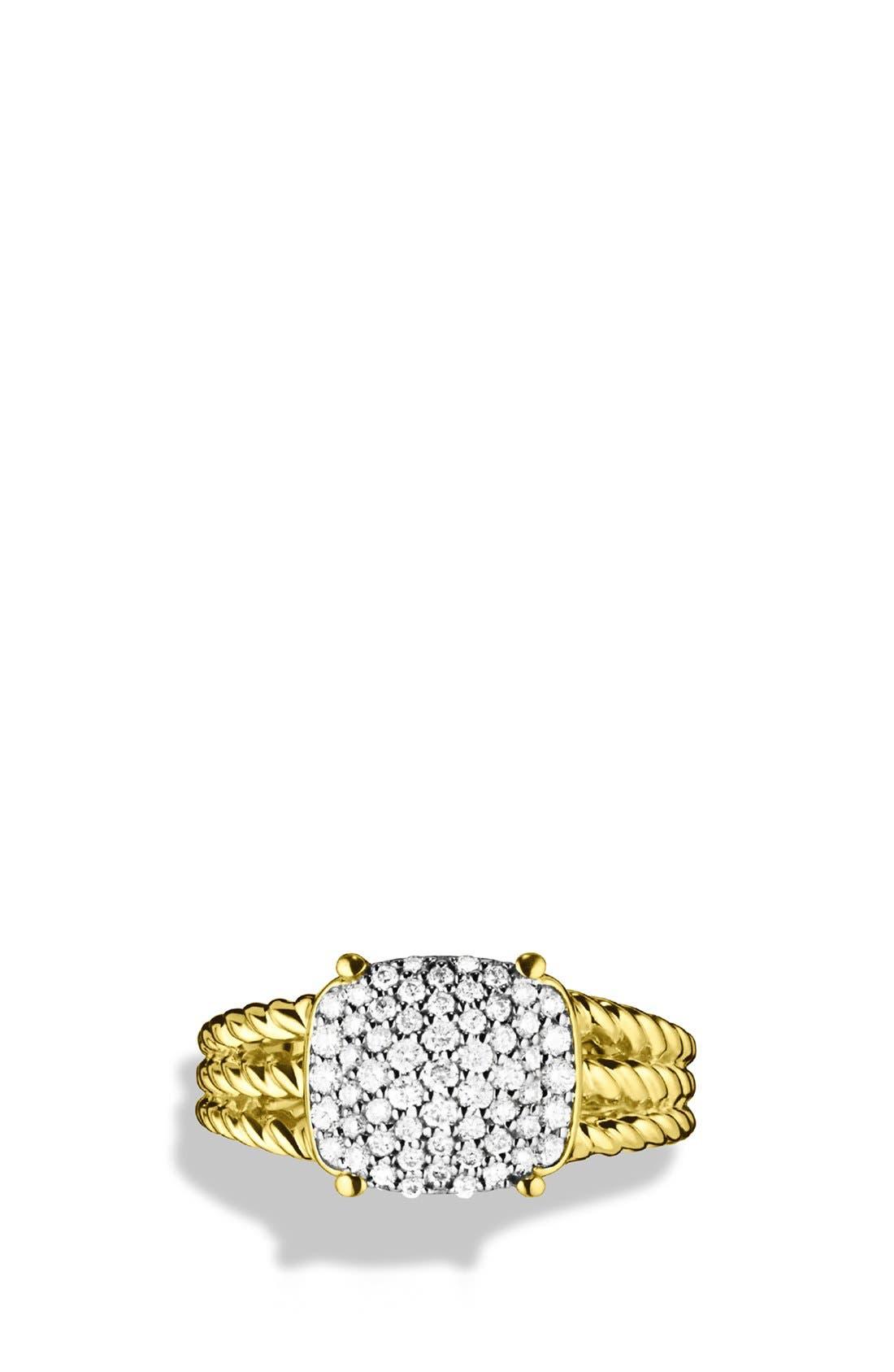 Alternate Image 3  - David Yurman 'Wheaton' Petite Ring with Diamonds in Gold