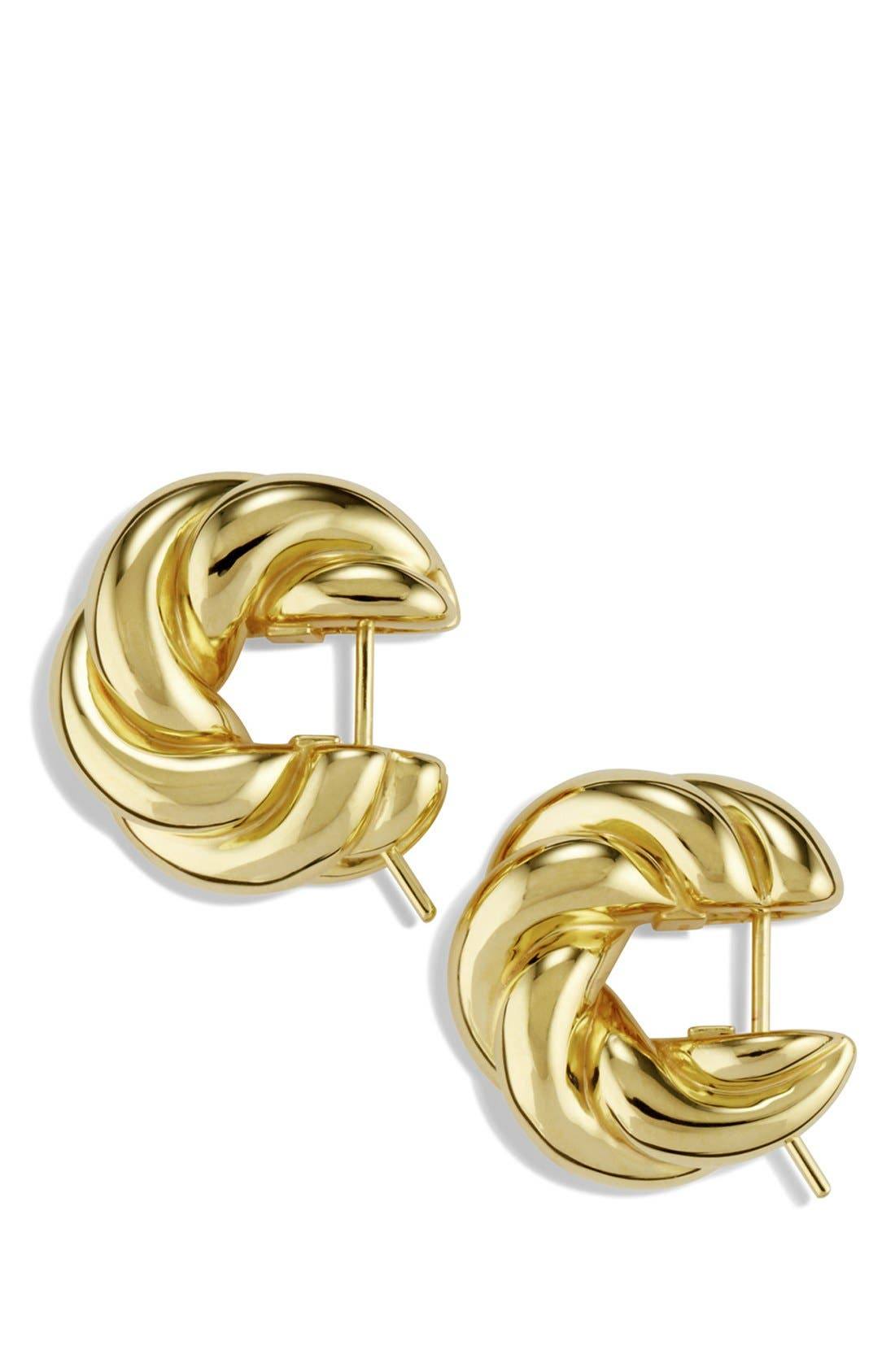 Alternate Image 2  - David Yurman 'Sculpted Cable' Small Earrings in Gold