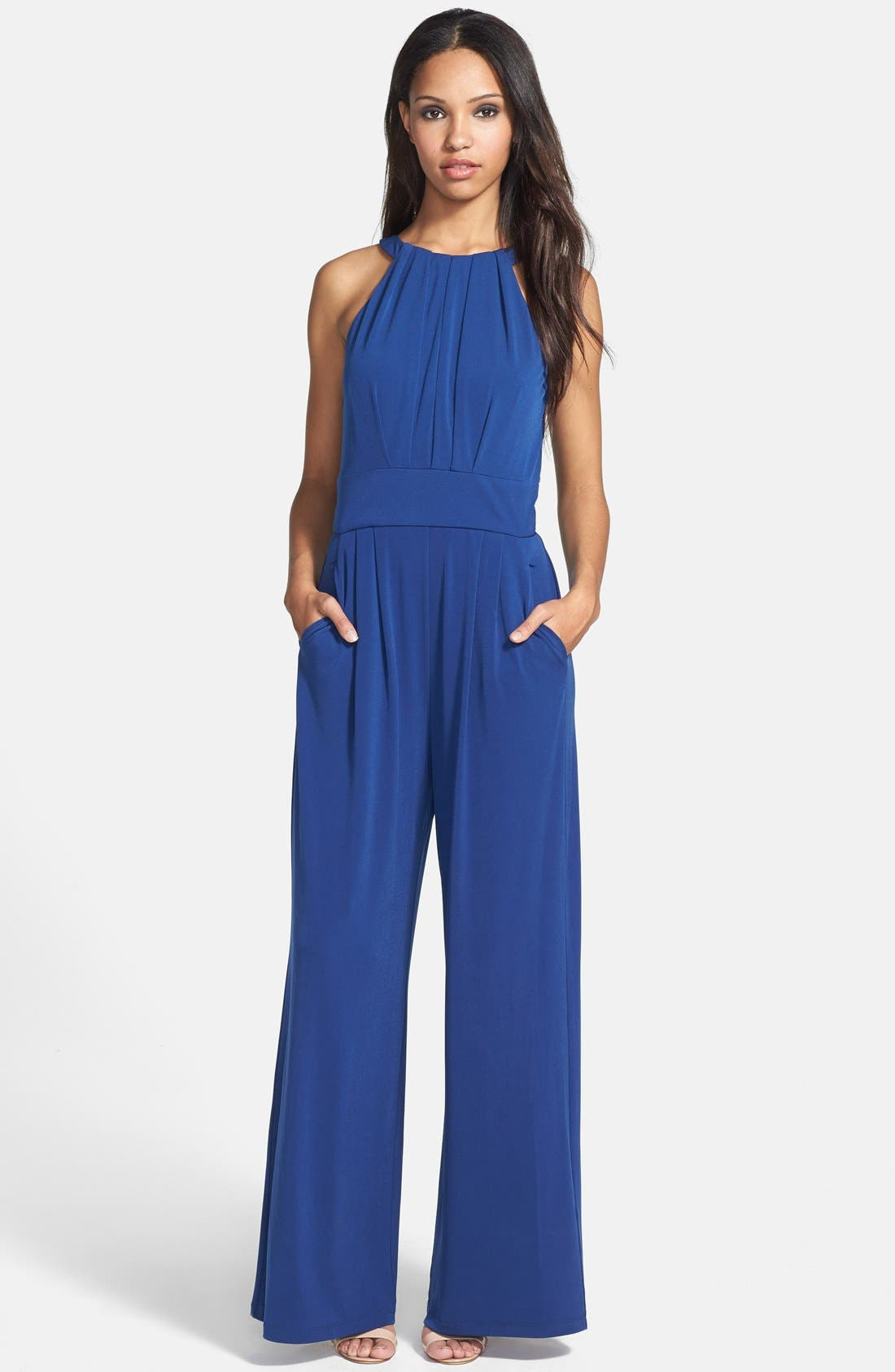 Alternate Image 1 Selected - Vince Camuto Wide Leg Jersey Jumpsuit