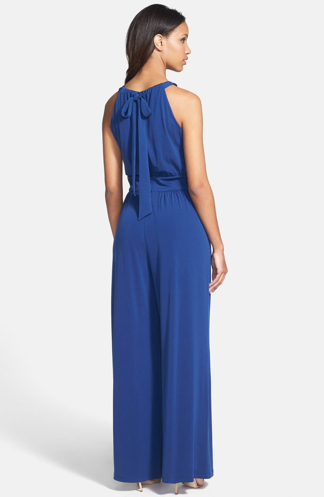 Alternate Image 2  - Vince Camuto Wide Leg Jersey Jumpsuit