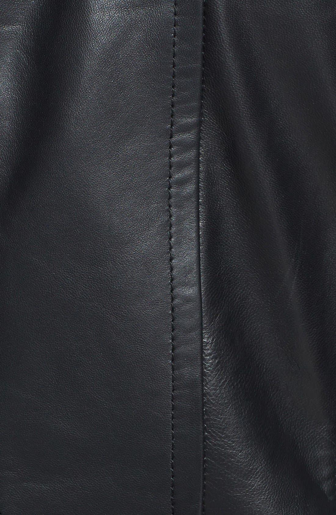 Alternate Image 3  - Ted Baker London 'Lahara' Convertible Collar Leather Jacket