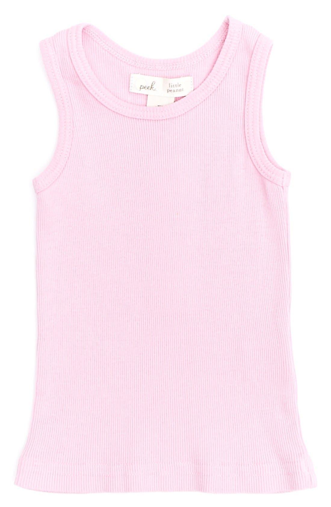 Main Image - Peek 'Little Peanut' Supima® Cotton Tank Top (Baby Girls)
