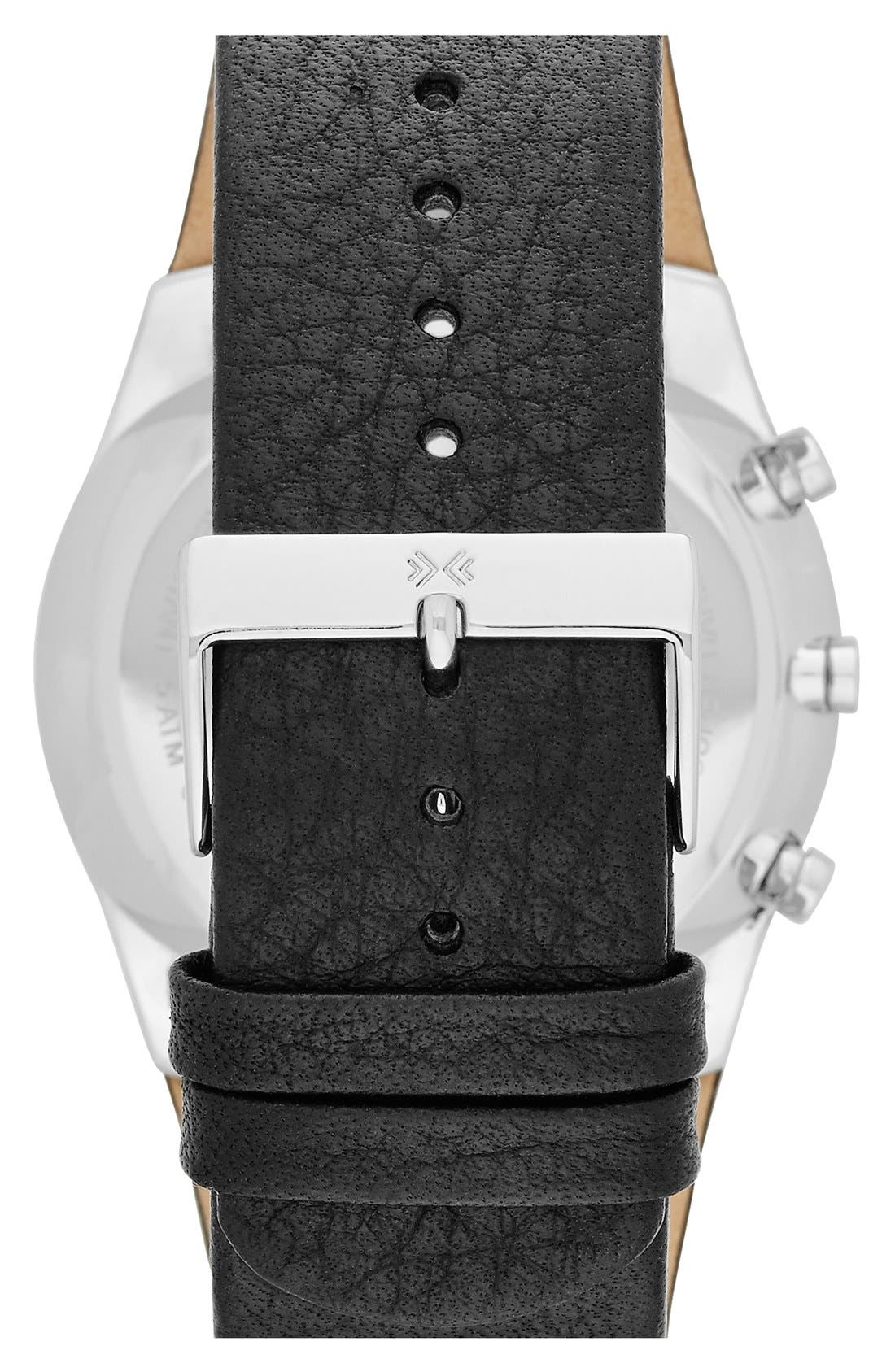 Alternate Image 2  - Skagen 'Havene' Chronograph Leather Strap Watch, 42mm