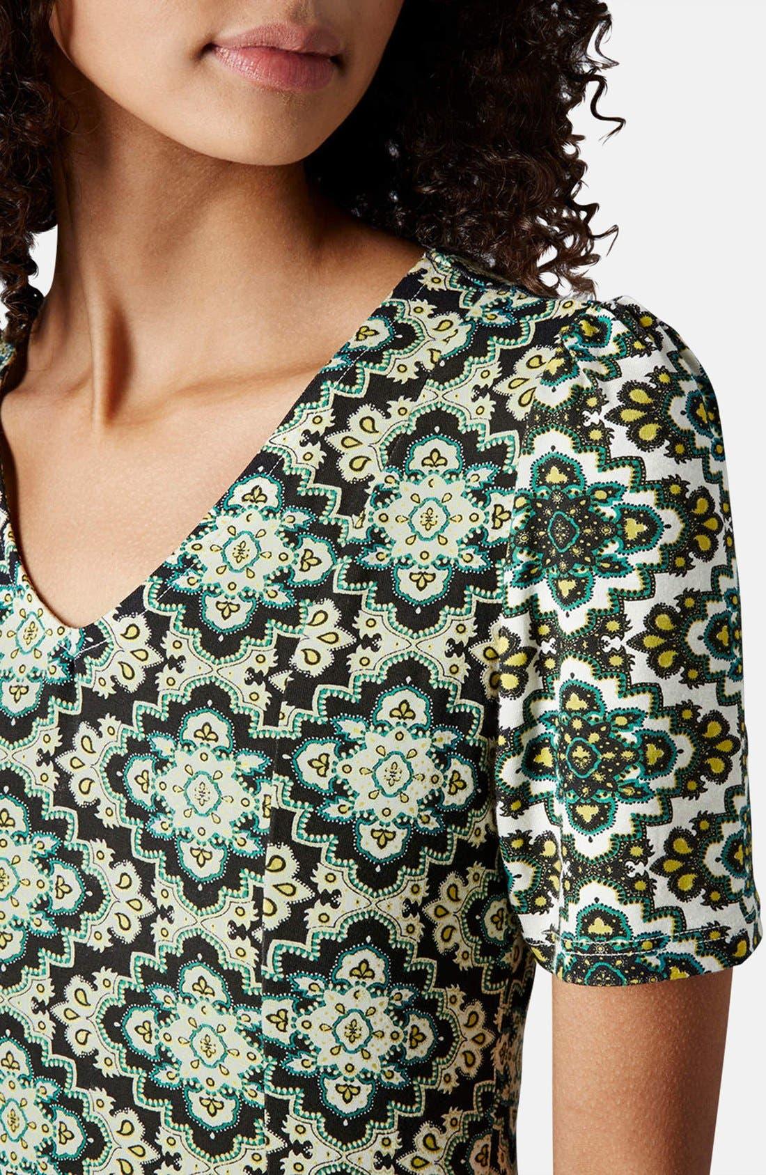 Alternate Image 4  - Topshop 'Emma' Folk Print Jersey Dress