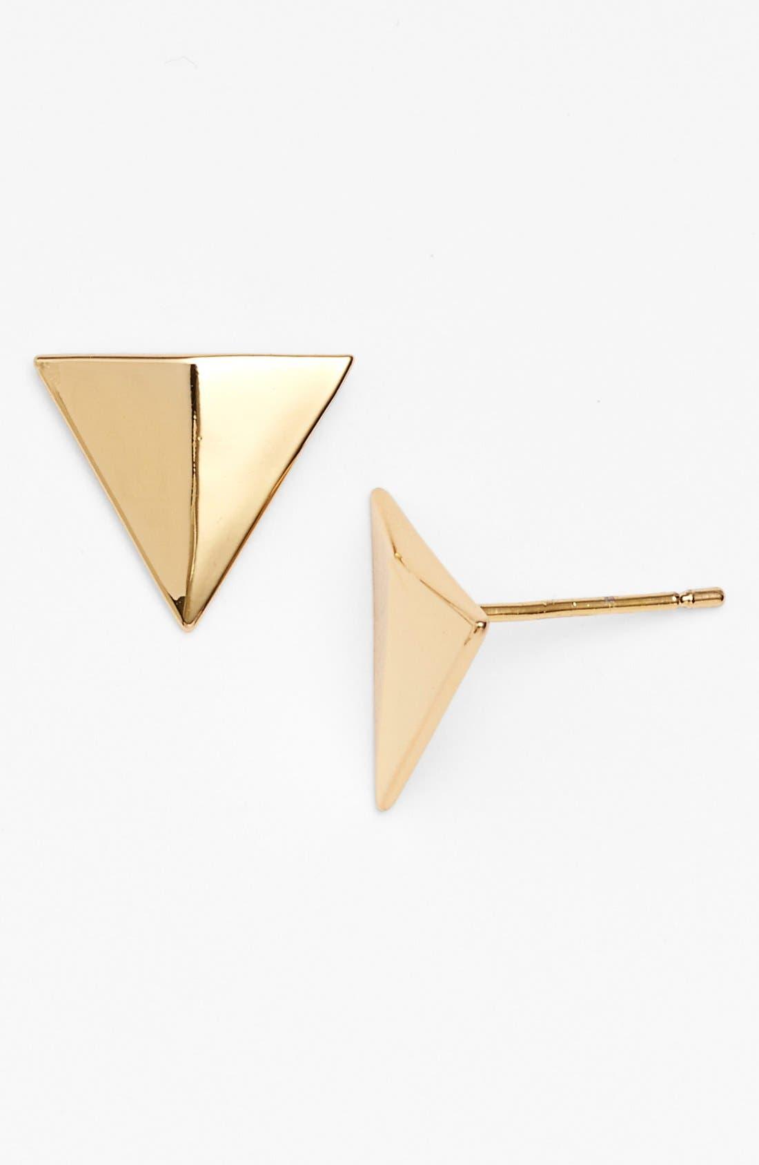 Alternate Image 1 Selected - Rebecca Minkoff 'Major Laser' Triangle Stud Earrings