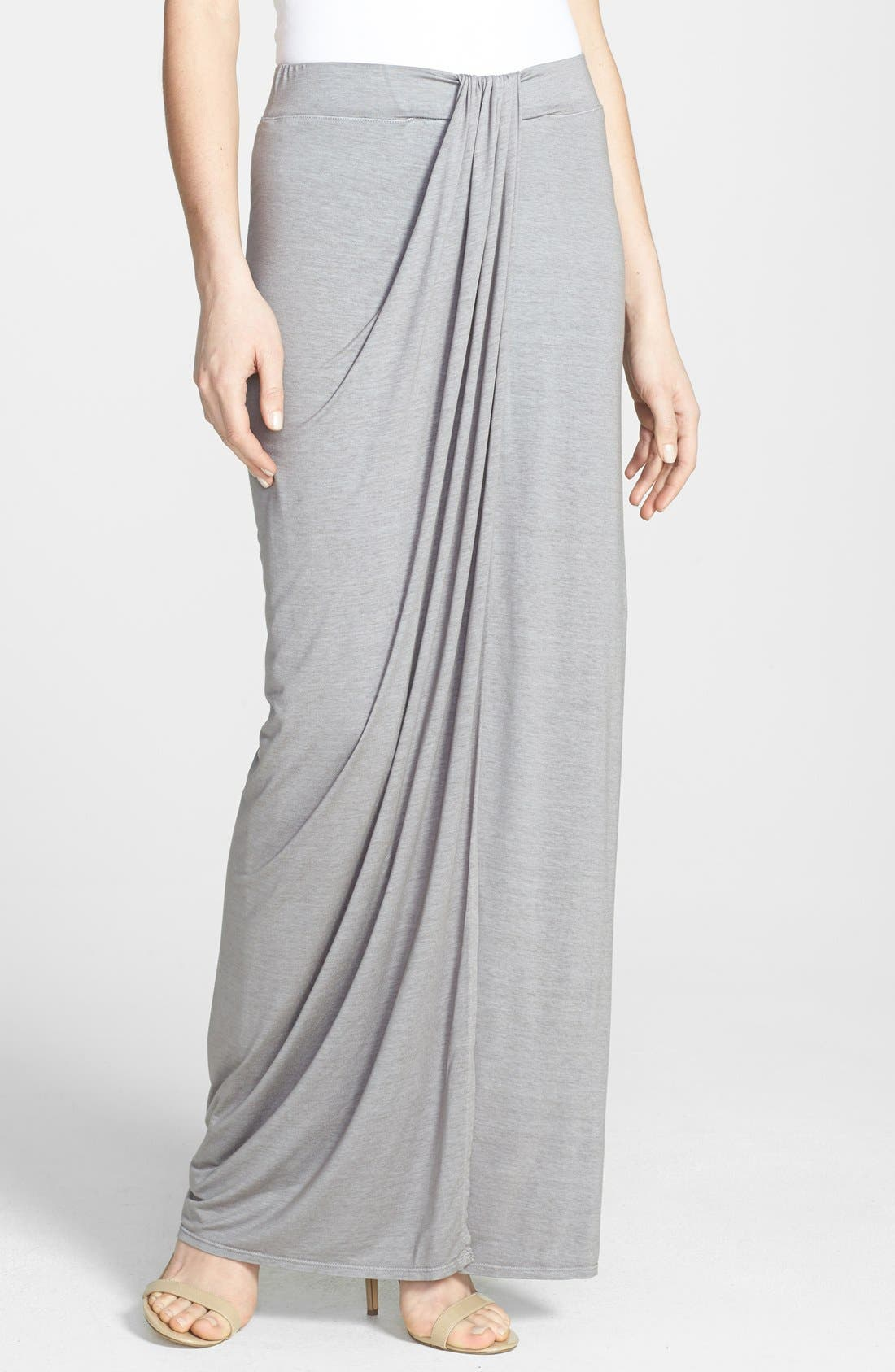 Alternate Image 1 Selected - Three Dots Drape Front Maxi Skirt