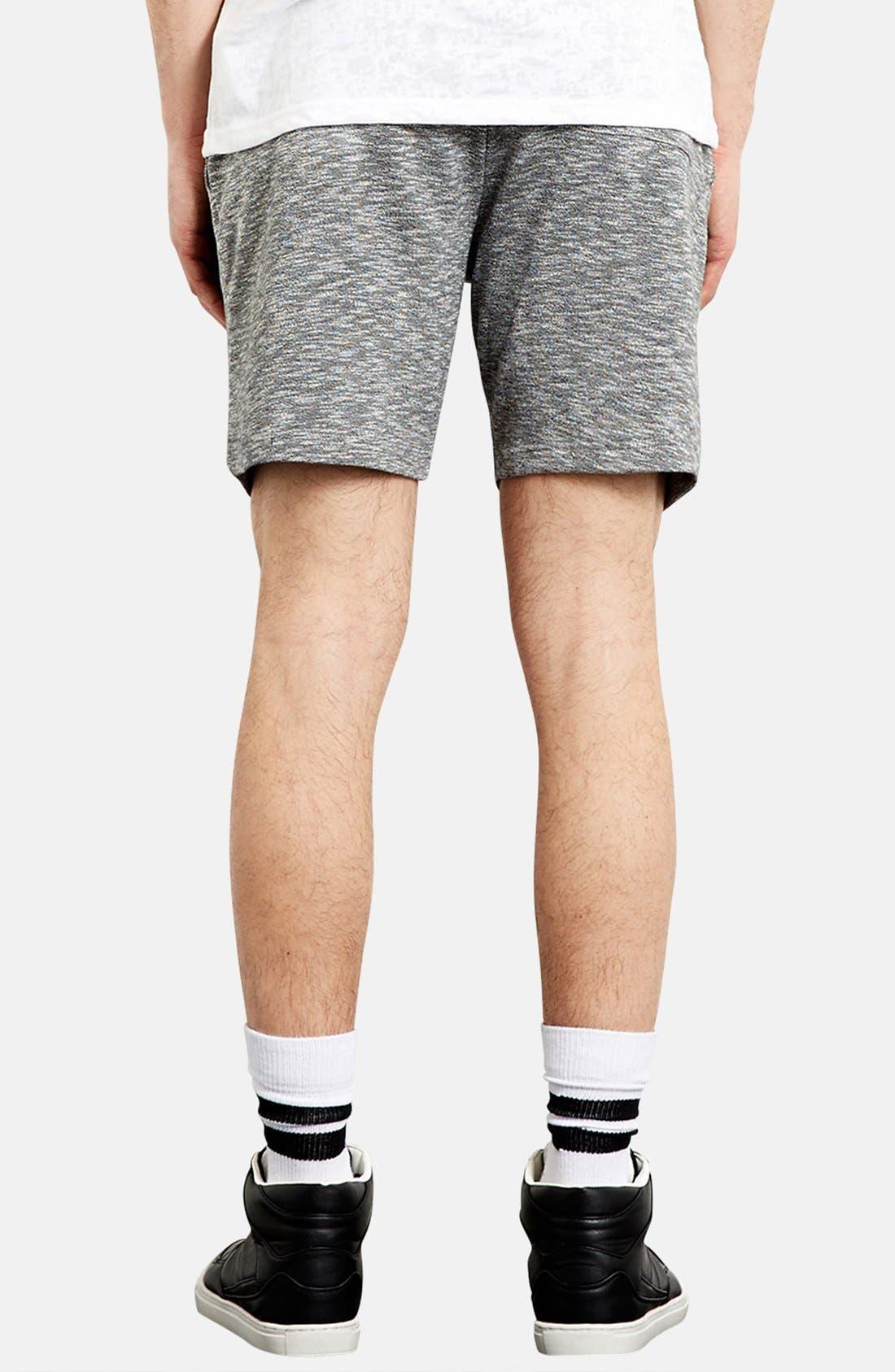 Alternate Image 2  - Topman Trim Fit Jersey Knit Shorts