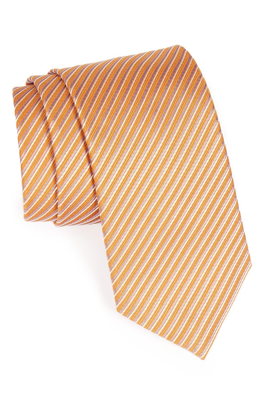 Main Image - BOSS Hugo Boss Stripe Woven Silk Tie