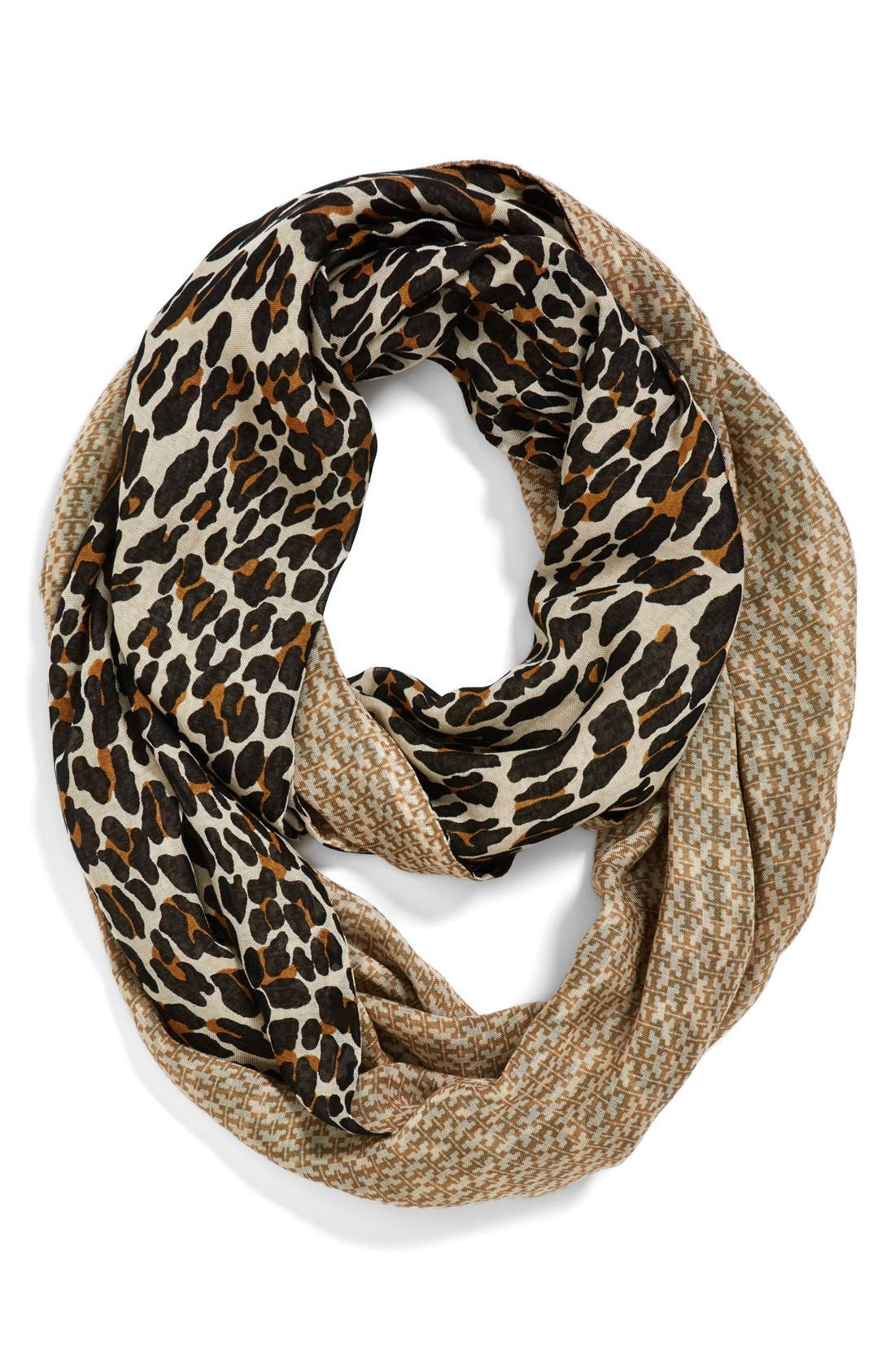 Main Image - Tory Burch 'Reva Leopard' Infinity Scarf
