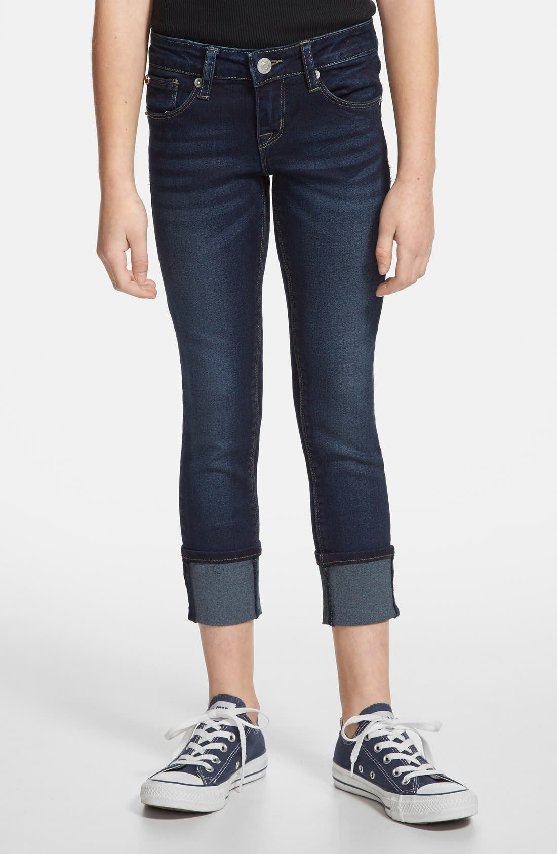Alternate Image 1 Selected - Hudson Kids 'Ginny' Crop Skinny Jeans (Big Girls)