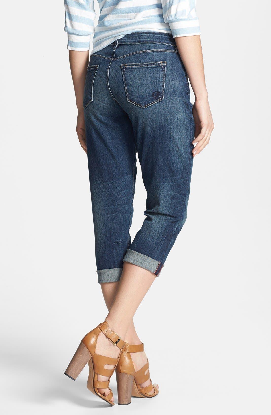 Alternate Image 2  - CJ by Cookie Johnson 'Rejoice' Stretch Crop Boyfriend Jeans (Tops)