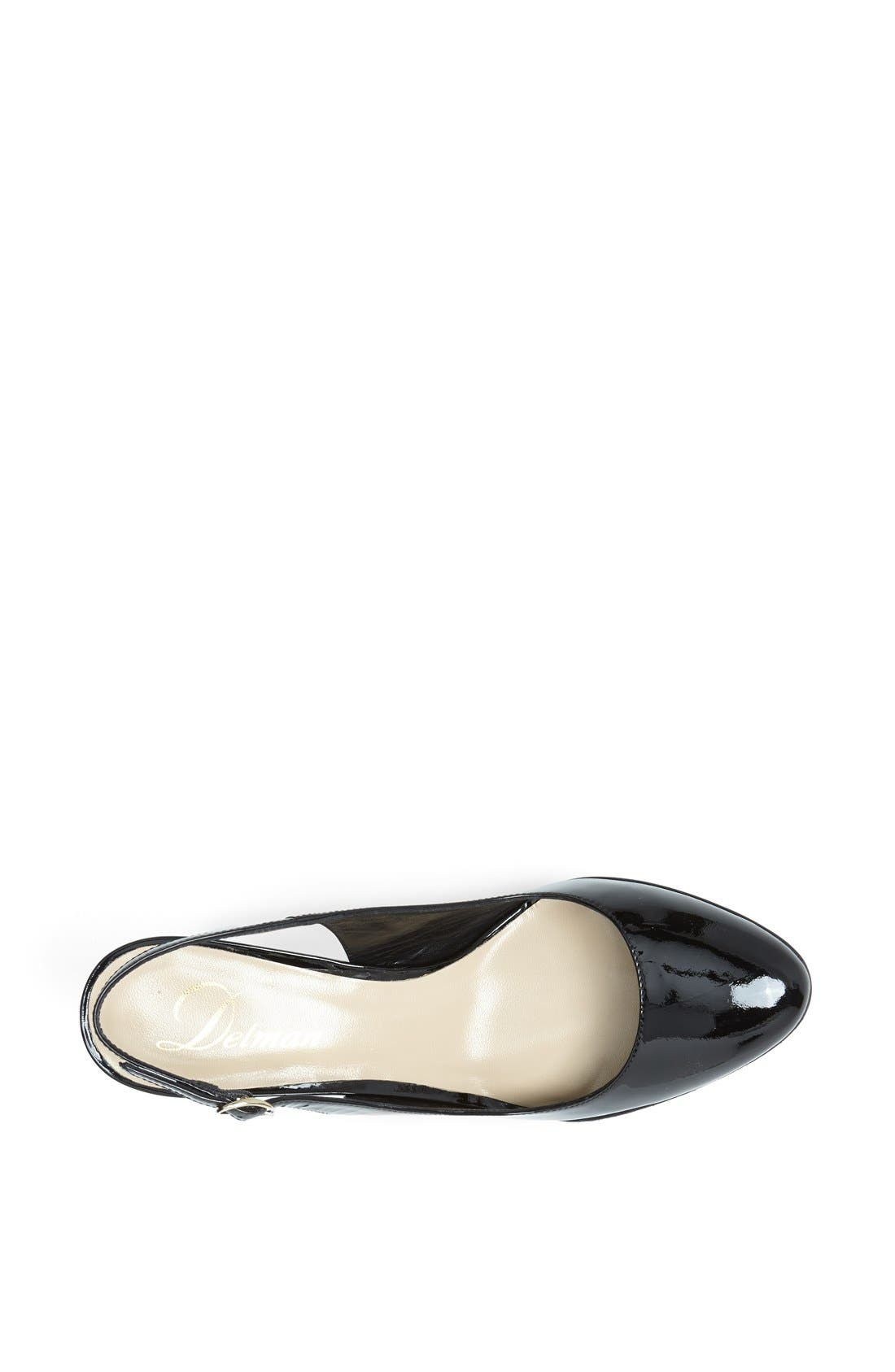 Alternate Image 4  - Delman 'Rosa' Slingback Almond Toe Wedge