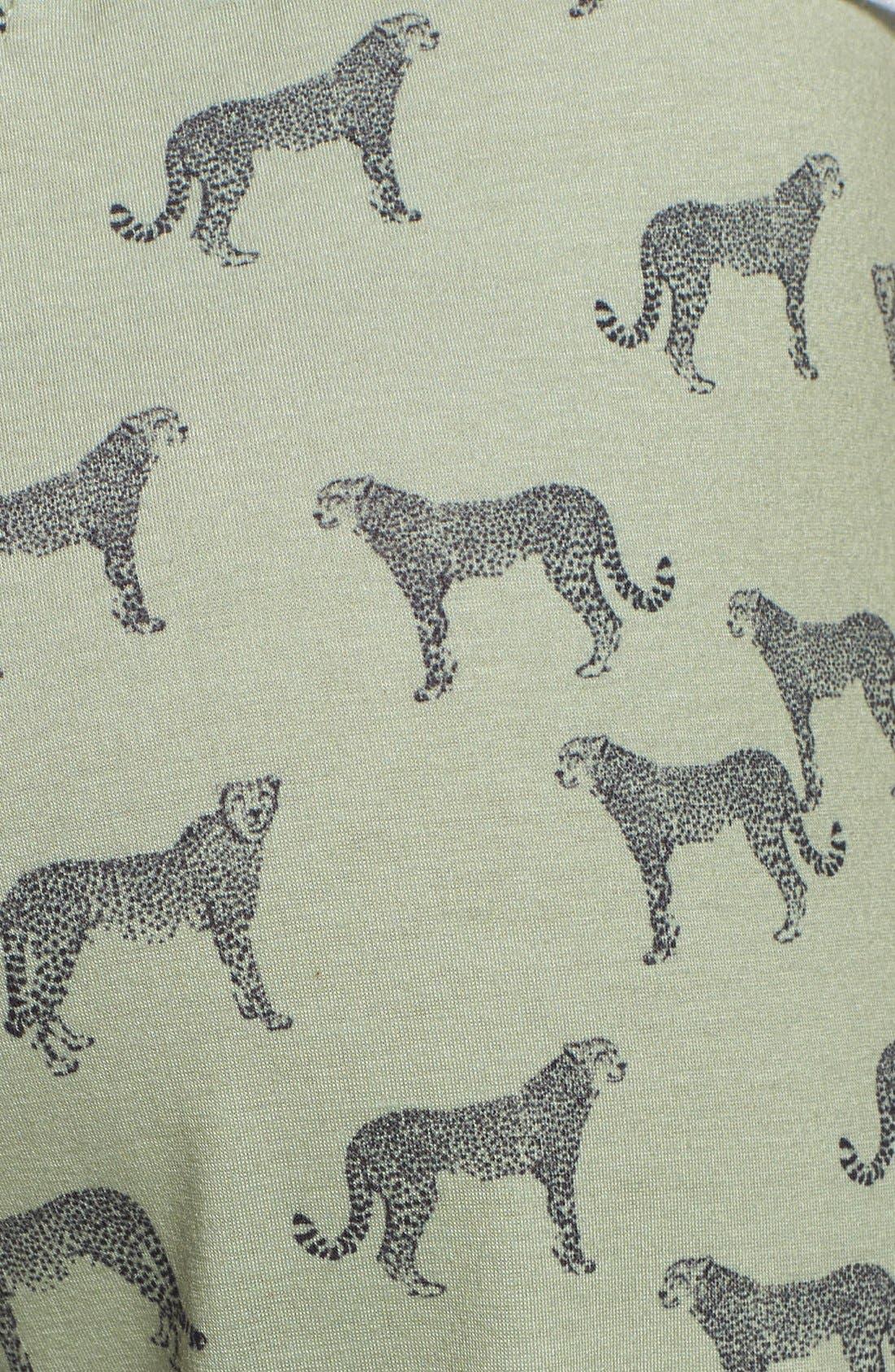 Alternate Image 3  - Wayf Jaguar Print Knit Track Pants