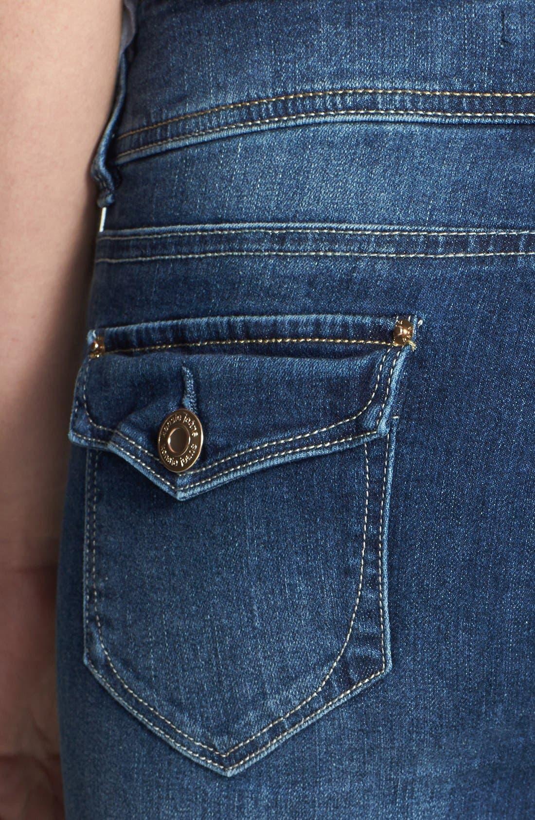 Alternate Image 2  - kensie Curvy Bootcut Jeans (True Blue)