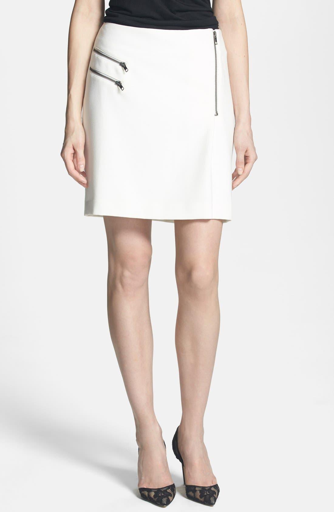 Main Image - Trouvé Zip Detail Pencil Skirt