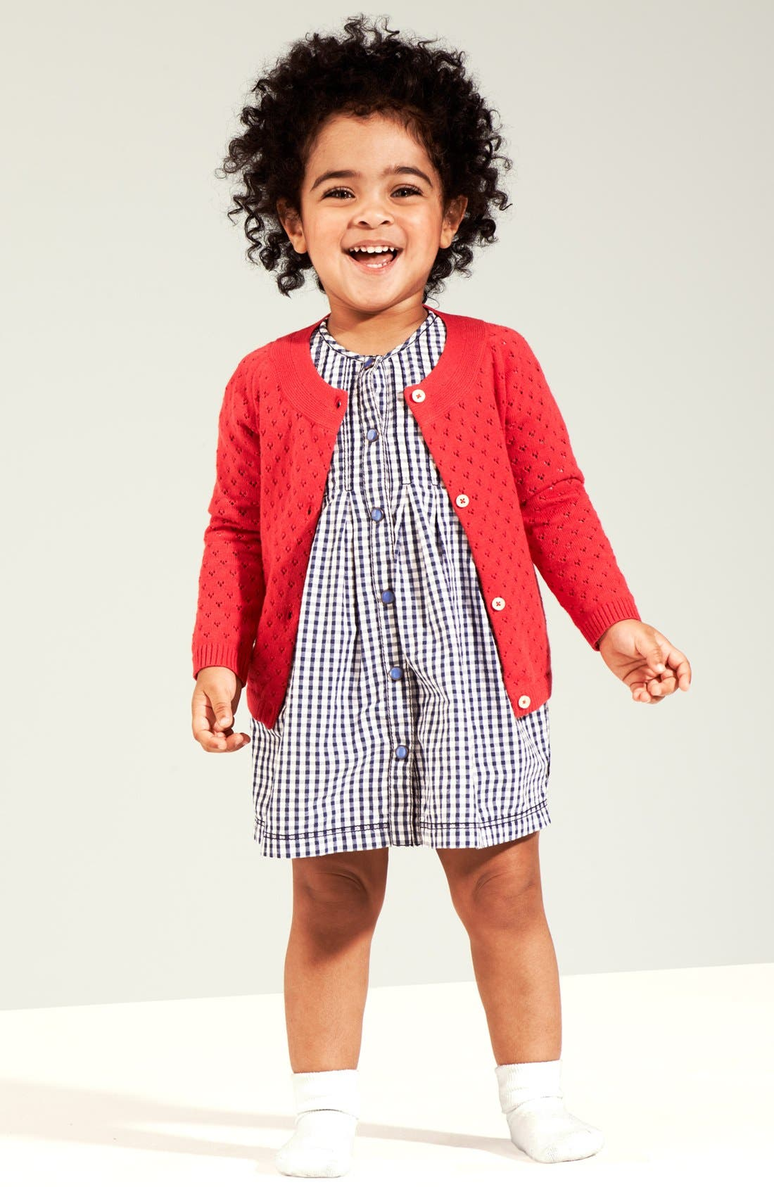 Alternate Image 2  - Nordstrom Baby Pointelle Cardigan (Baby Girls)