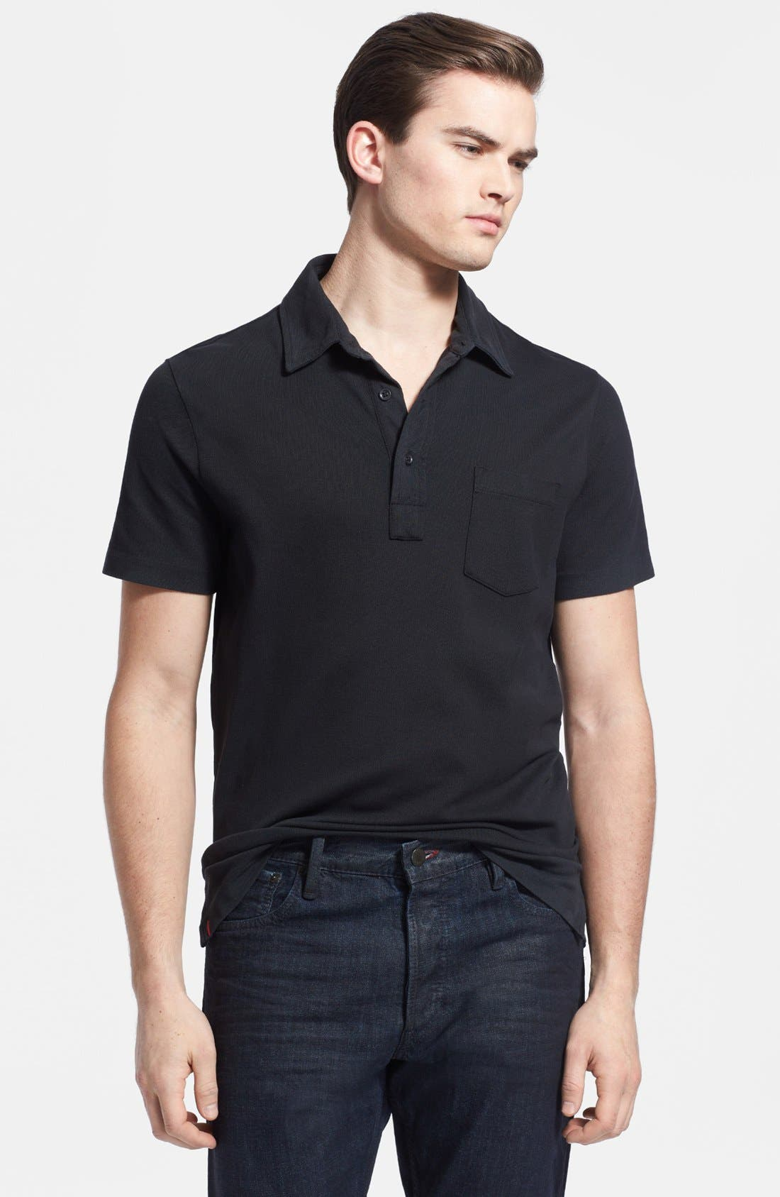 Alternate Image 1 Selected - Ralph Lauren Black Label Stretch Piqué Polo