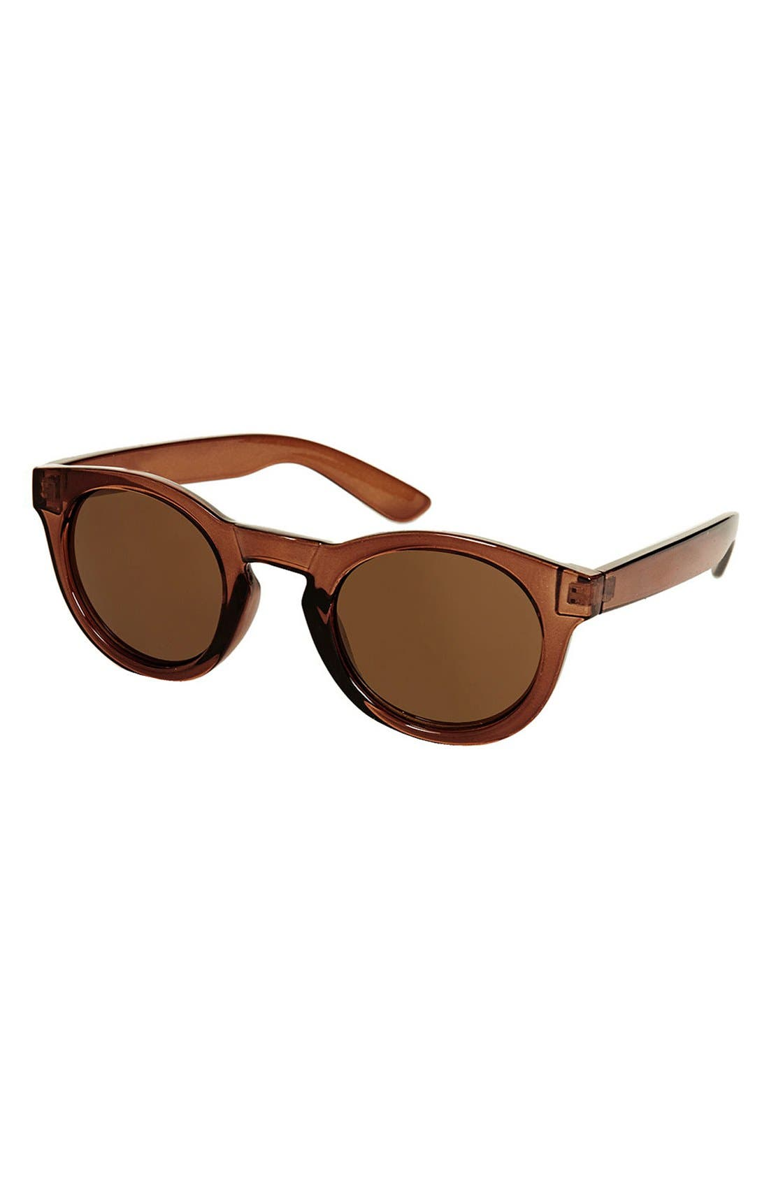 Main Image - Topshop 'Chunky Crystal' 48mm Round Sunglasses