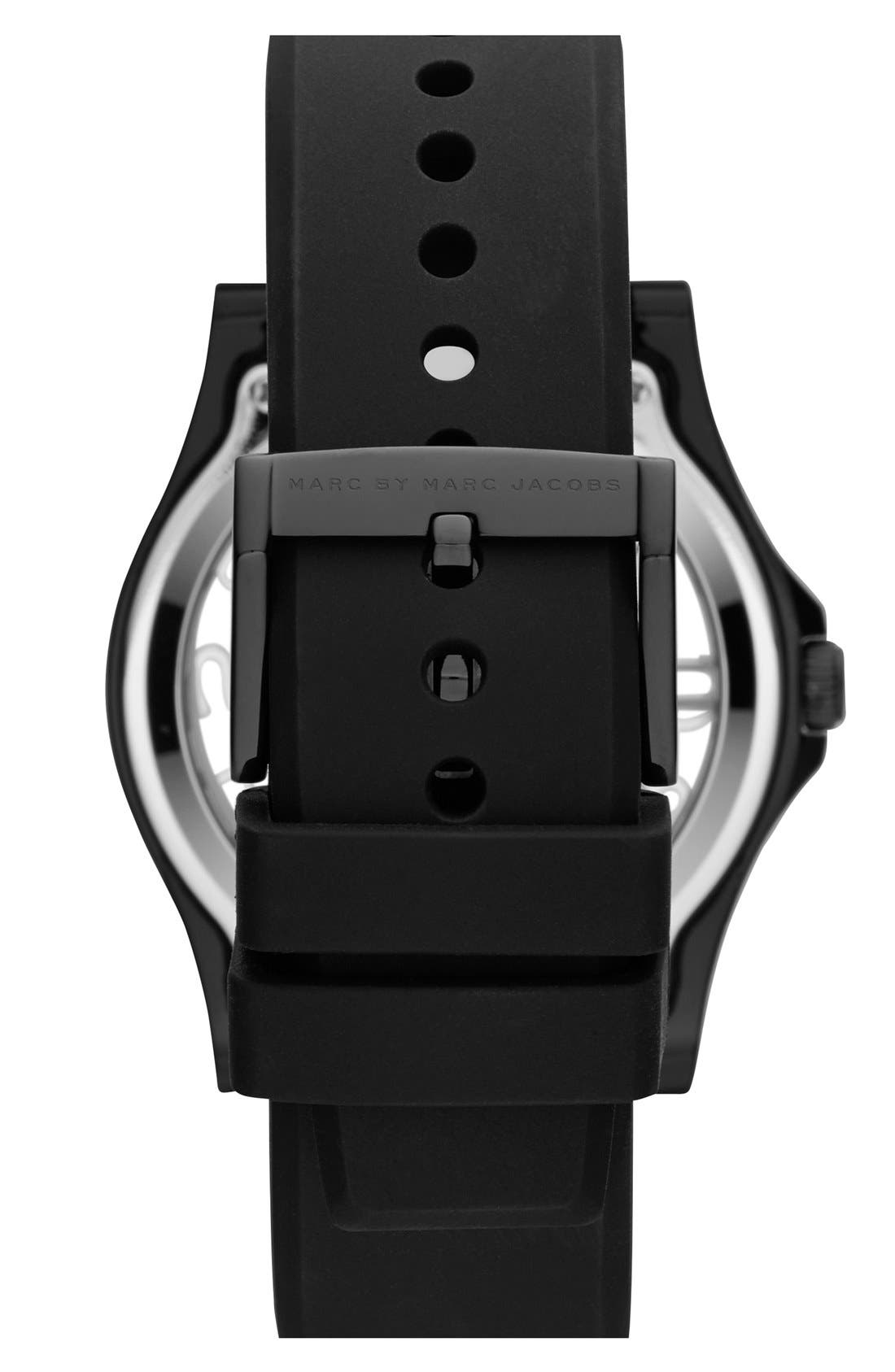 Alternate Image 2  - MARC JACOBS 'Henry Skeleton' Silicone Strap Watch, 41mm