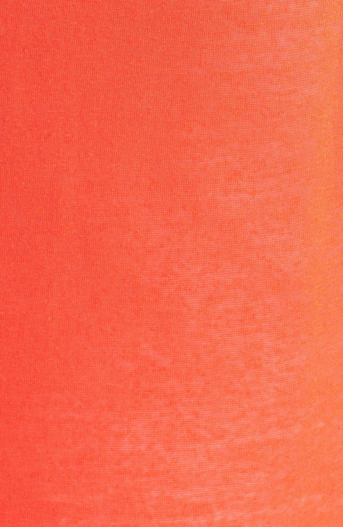 Alternate Image 3  - Halogen® Three Quarter Sleeve Jersey Sweatshirt (Plus Size)