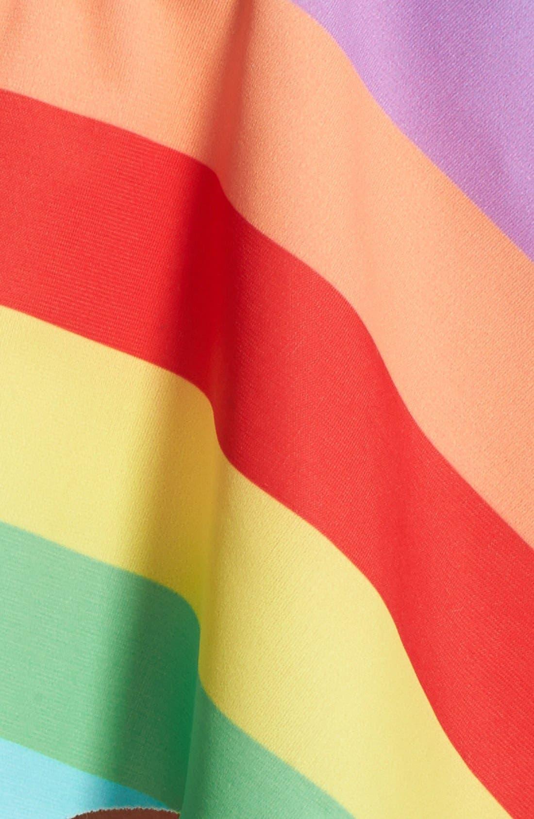 Alternate Image 5  - Wildfox '70s Rainbow' Flutter Bikini Top