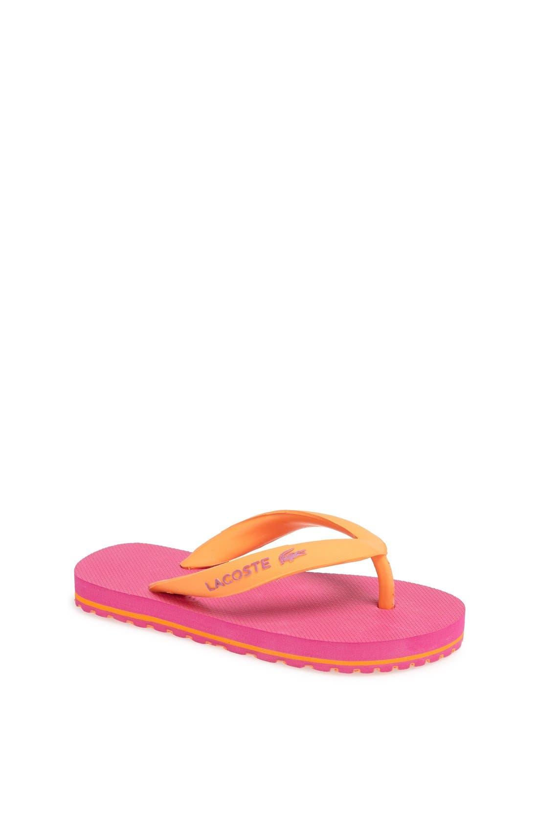 Alternate Image 1 Selected - Lacoste 'Nosara' Flip Flop (Toddler & Little Kid)