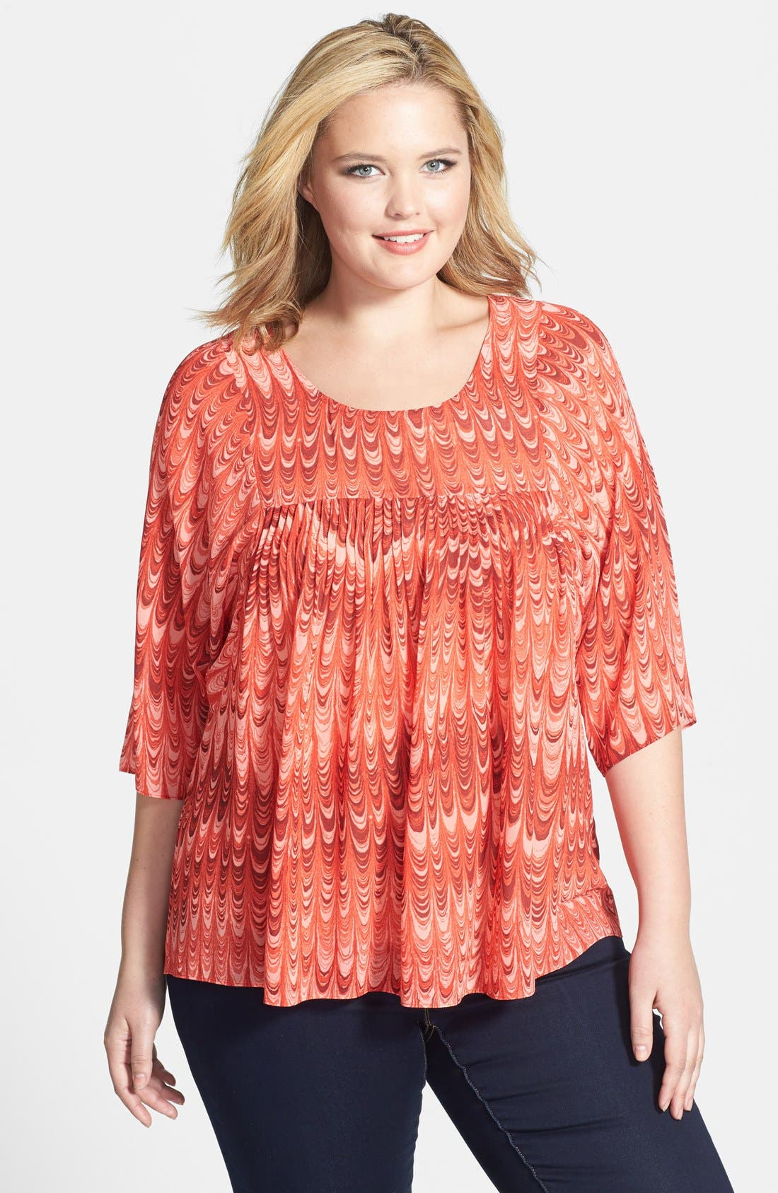 Alternate Image 1 Selected - MICHAEL Michael Kors 'Paper' Flowy Top (Plus Size)