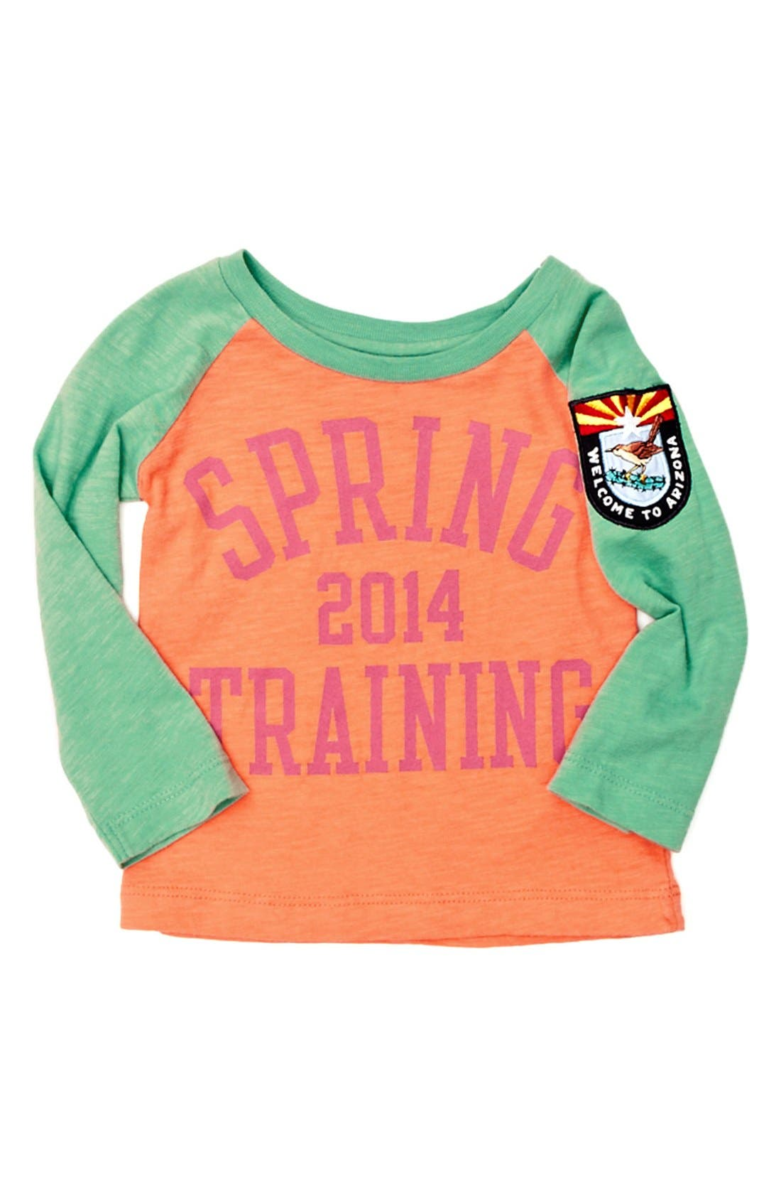 Alternate Image 1 Selected - Peek 'Spring Training' Tee (Baby Girls)