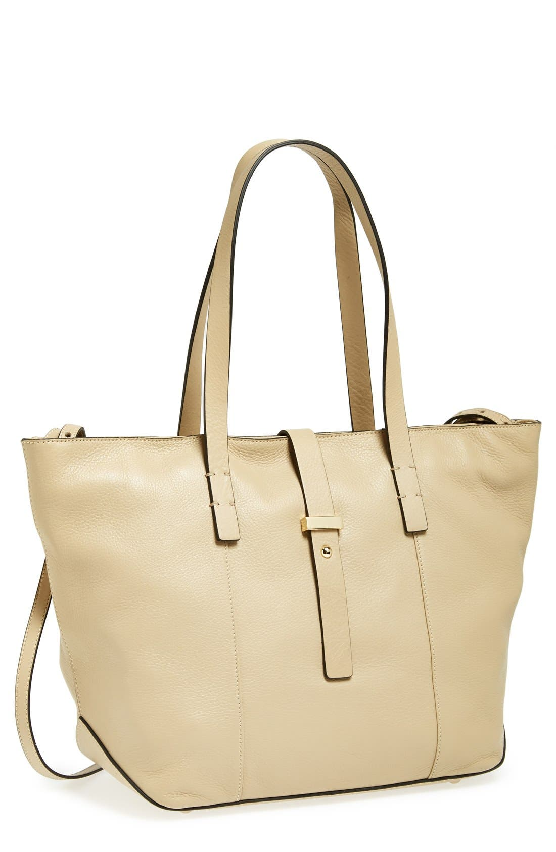Main Image - Halogen® Belted Leather Tote