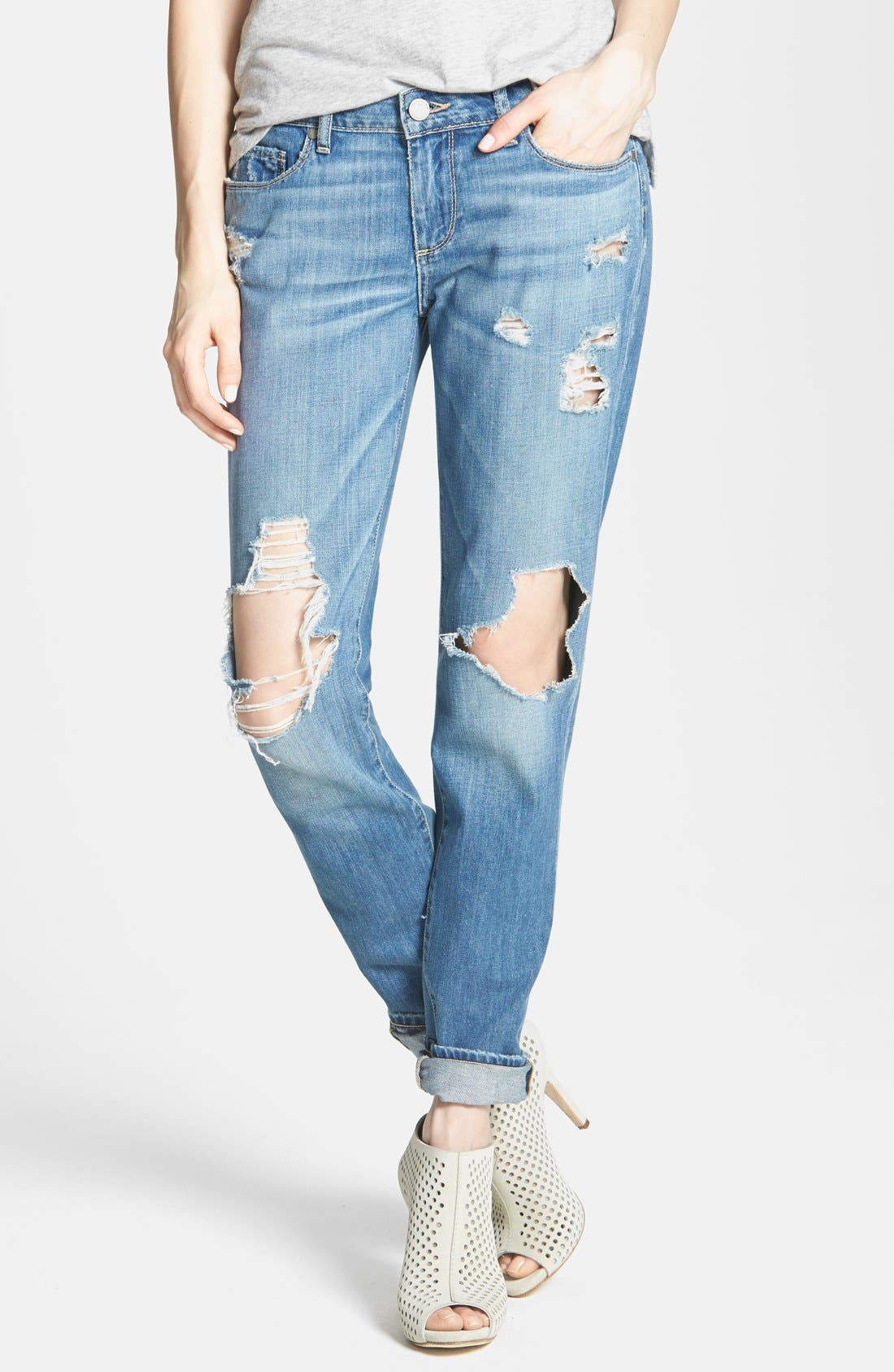 Alternate Image 1 Selected - Paige Denim 'Jimmy Jimmy' Destroyed Boyfriend Jeans (Clifton)