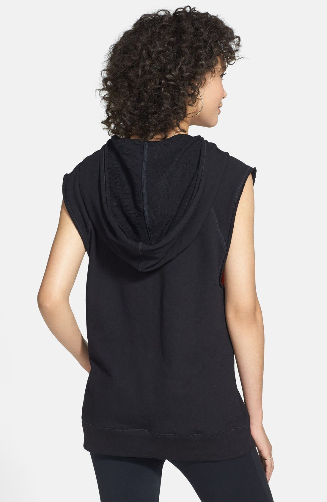 Alternate Image 2  - Unit-Y 'Ecstatic - #LOL Live Out Loud' Sleeveless Hoodie