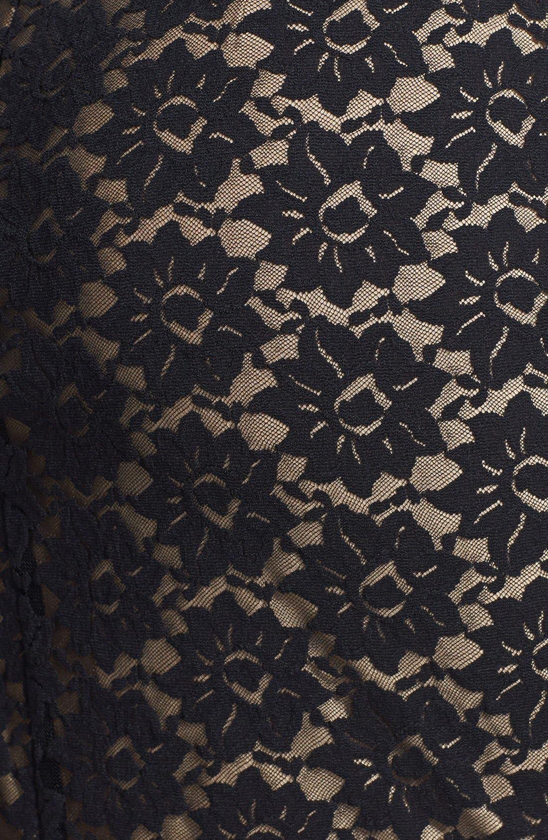 Alternate Image 4  - Nicole Miller Stretch Lace Body-Con Dress
