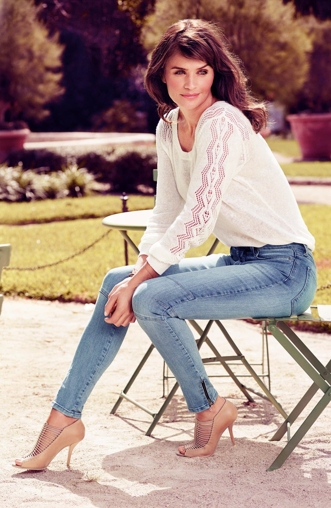Alternate Image 4  - NYDJ 'Kerry' Stretch Ankle Super Skinny Jeans (Palos Verdes) (Regular & Petite)
