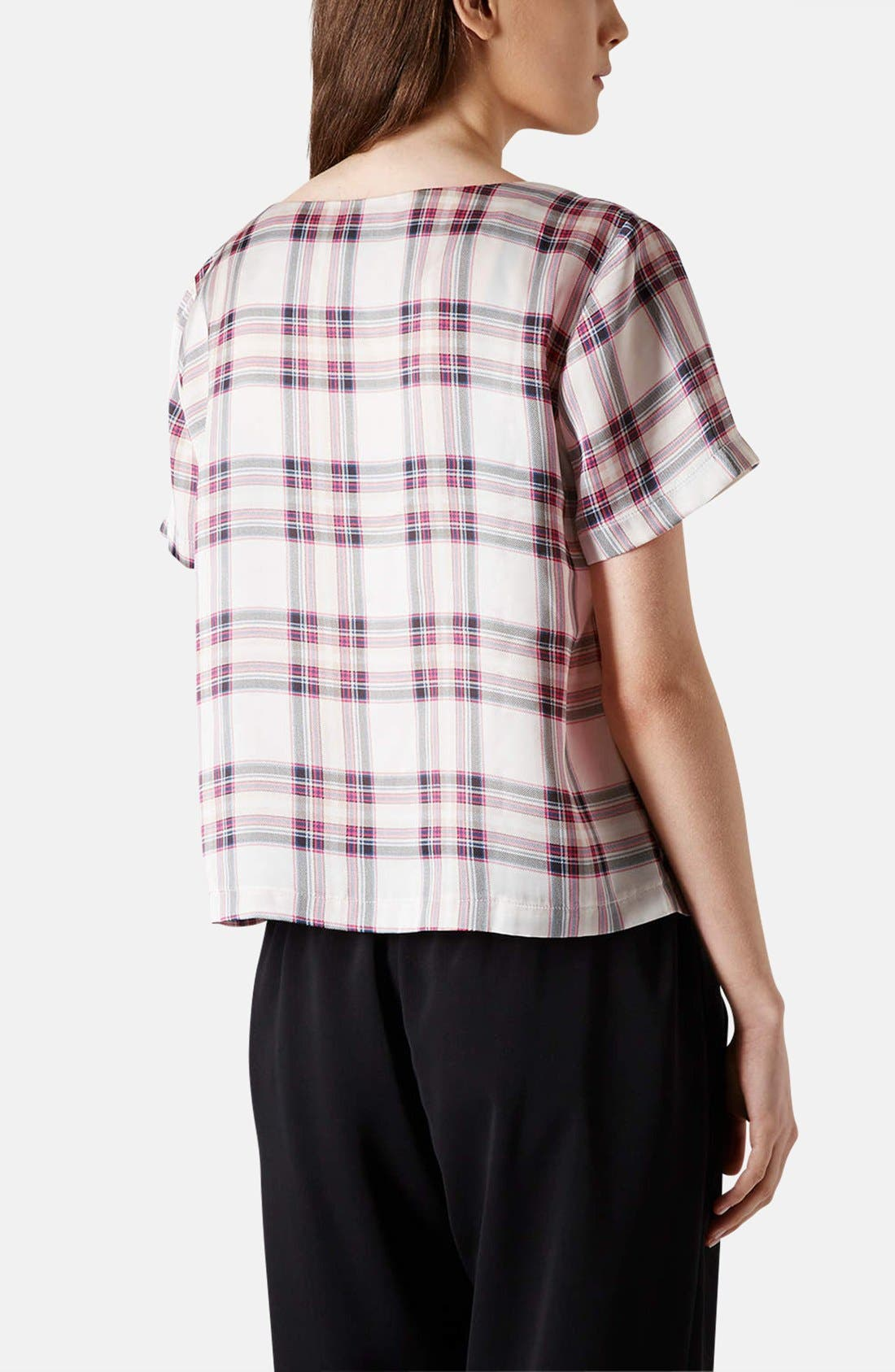 Alternate Image 2  - Topshop 'Summer Check' Print Tee