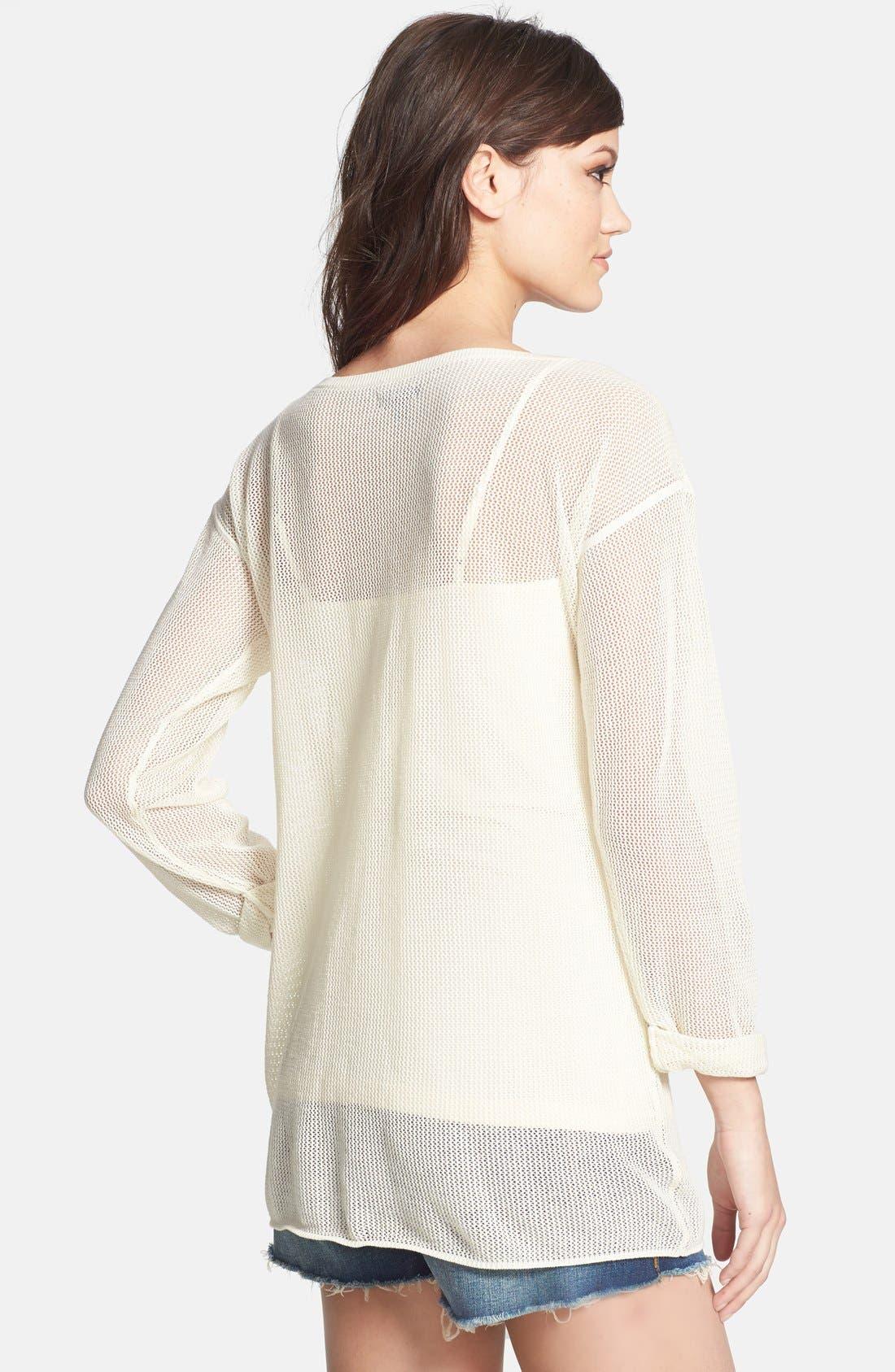 Alternate Image 2  - Tildon Mesh Cotton Pullover