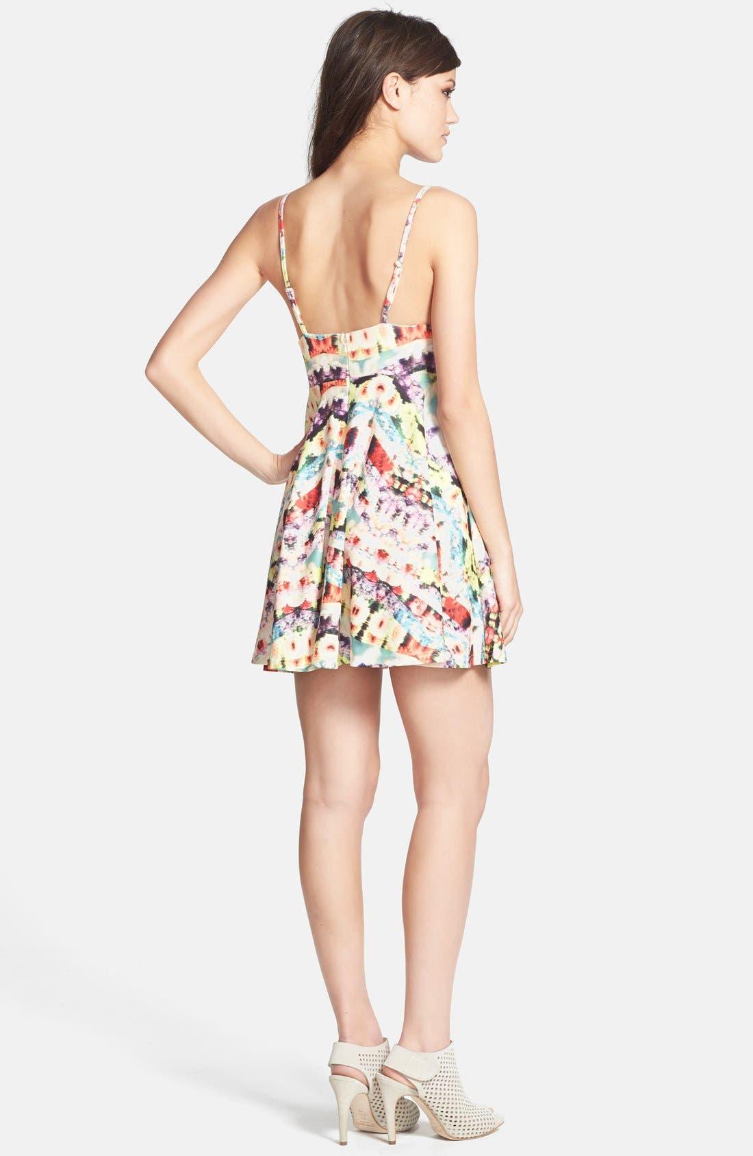 Alternate Image 2  - MINKPINK 'Spring Wave' Print Fit & Flare Dress