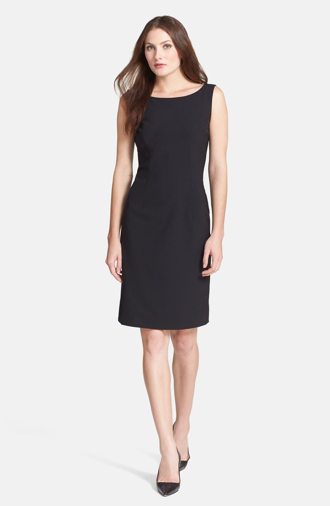 Main Image - BOSS 'Dinoma' Stretch Wool Sheath Dress