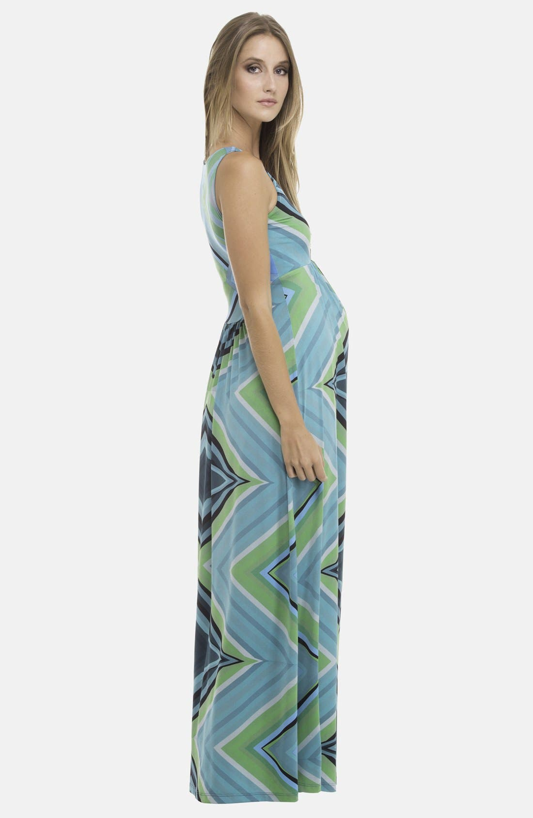 Alternate Image 3  - Olian Maternity Maxi Dress