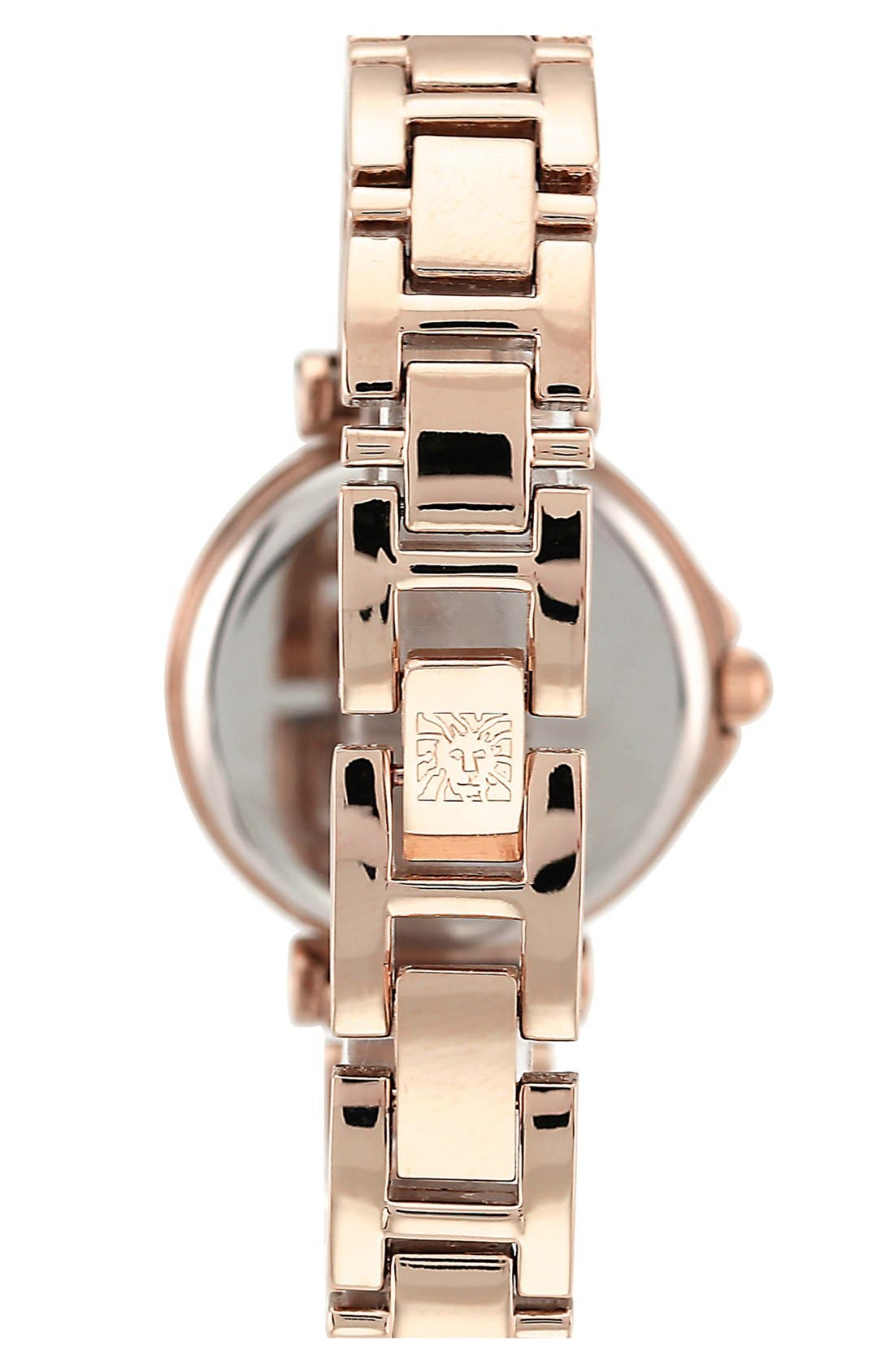 Alternate Image 2  - Anne Klein Crystal Index Round Bracelet Watch, 28mm