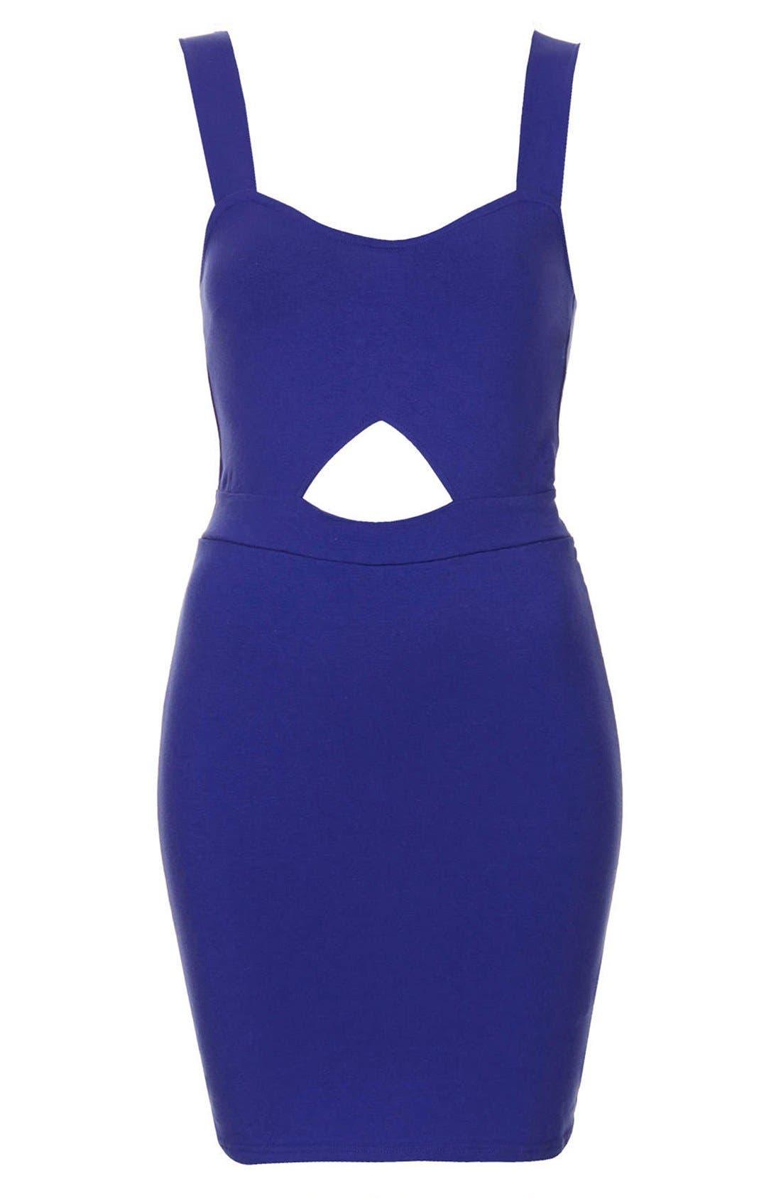 Alternate Image 3  - Topshop Cutout Jersey Body-Con Dress